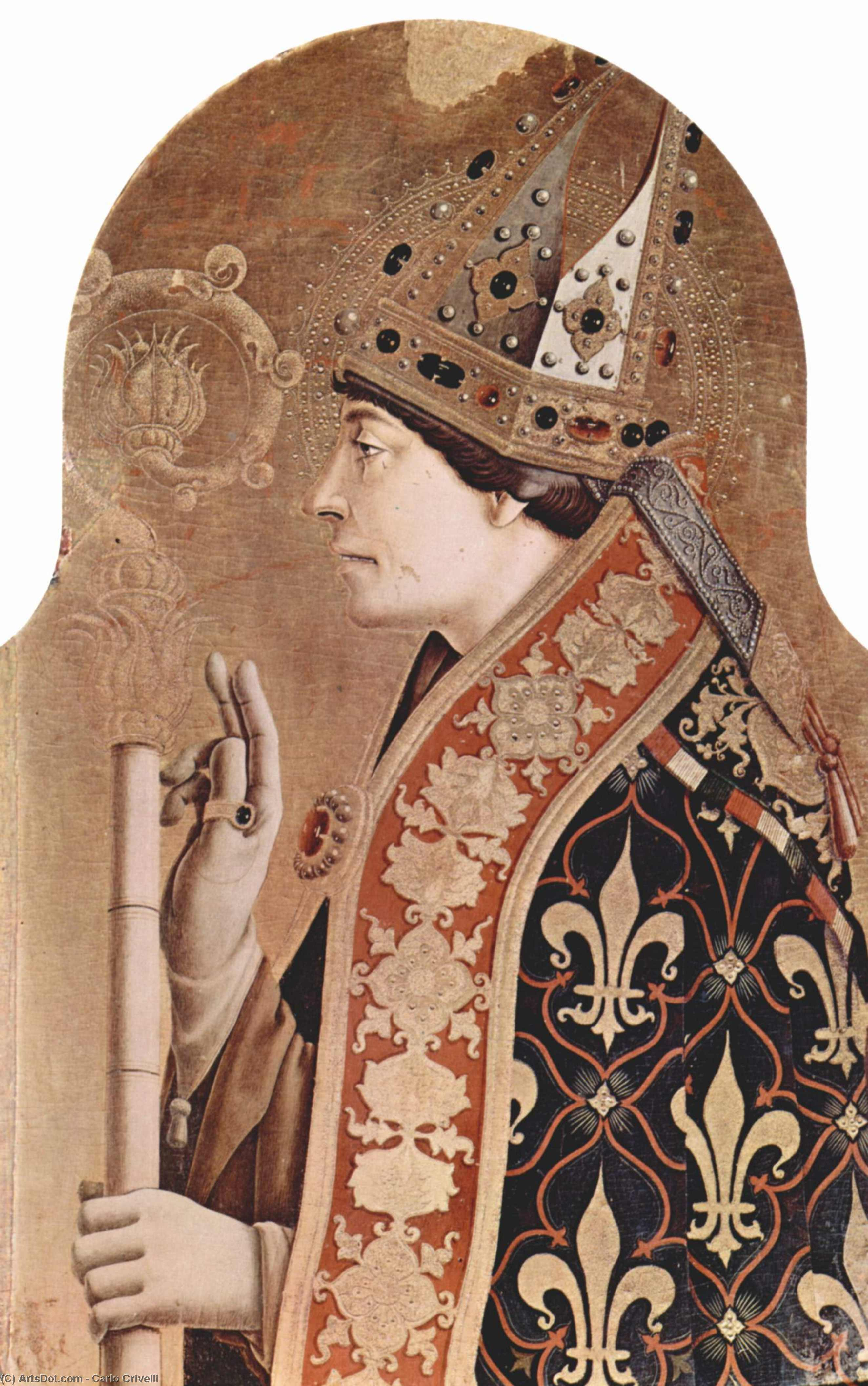 Wikioo.org - The Encyclopedia of Fine Arts - Painting, Artwork by Carlo Crivelli - Saint Louis of Toulouse