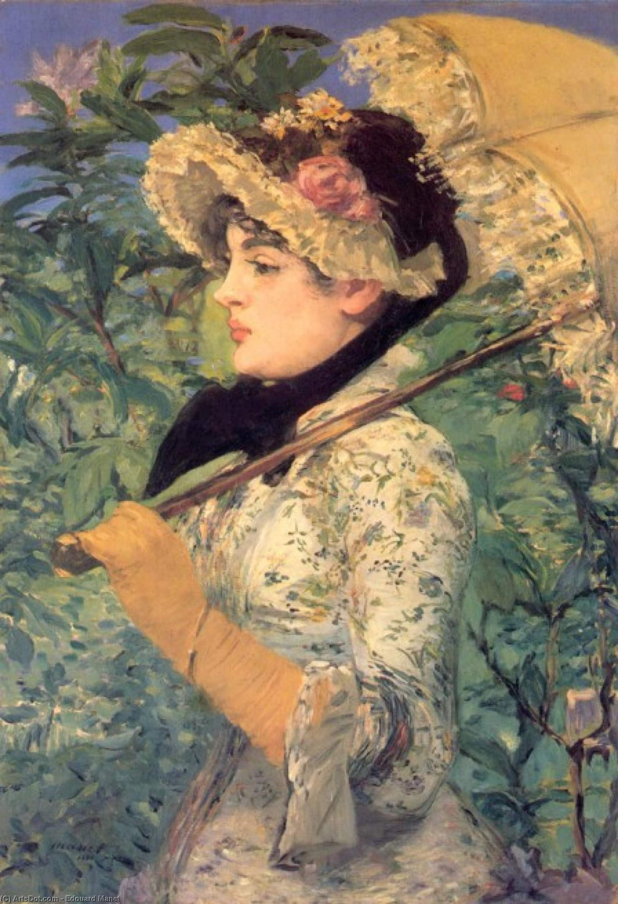 Wikioo.org - The Encyclopedia of Fine Arts - Painting, Artwork by Edouard Manet - Spring (Study of Jeanne Demarsy)