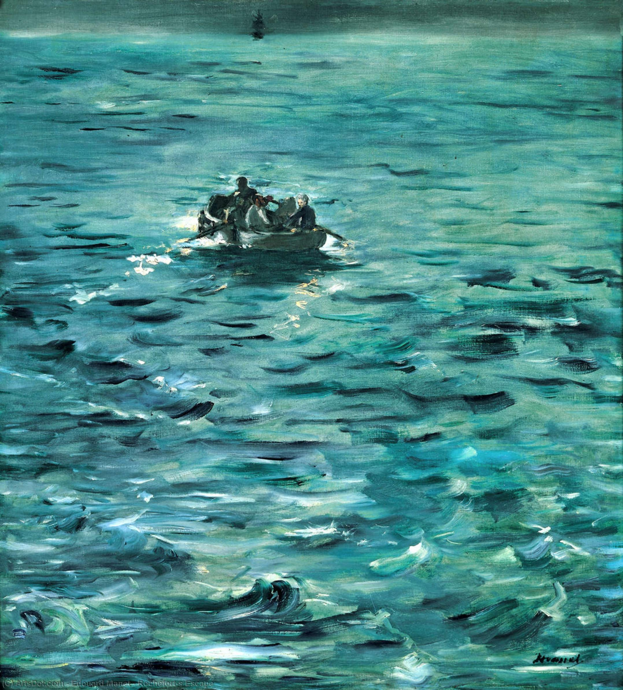 Wikioo.org - The Encyclopedia of Fine Arts - Painting, Artwork by Edouard Manet - Rochefort's Escape