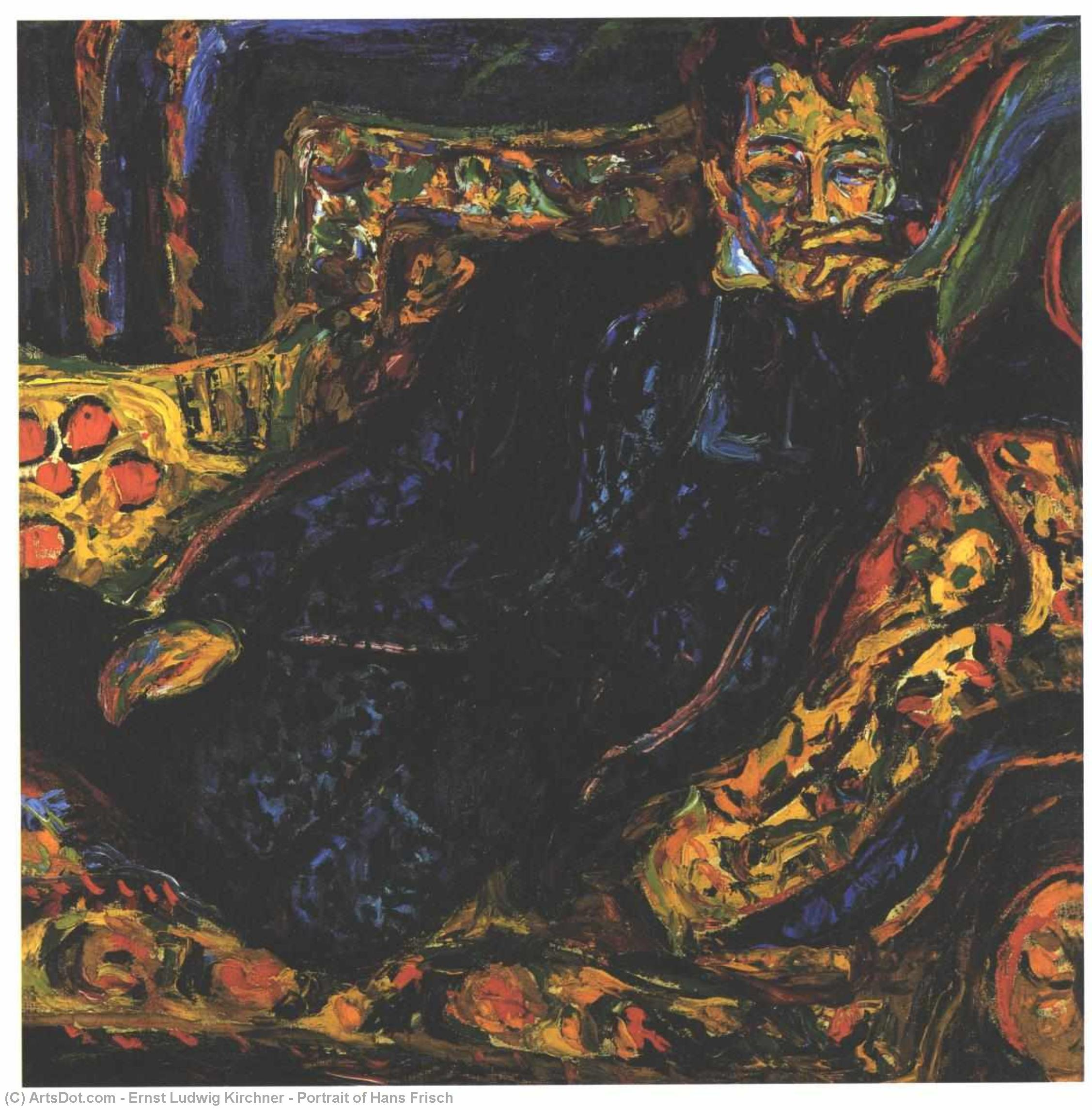 Wikioo.org - The Encyclopedia of Fine Arts - Painting, Artwork by Ernst Ludwig Kirchner - Portrait of Hans Frisch