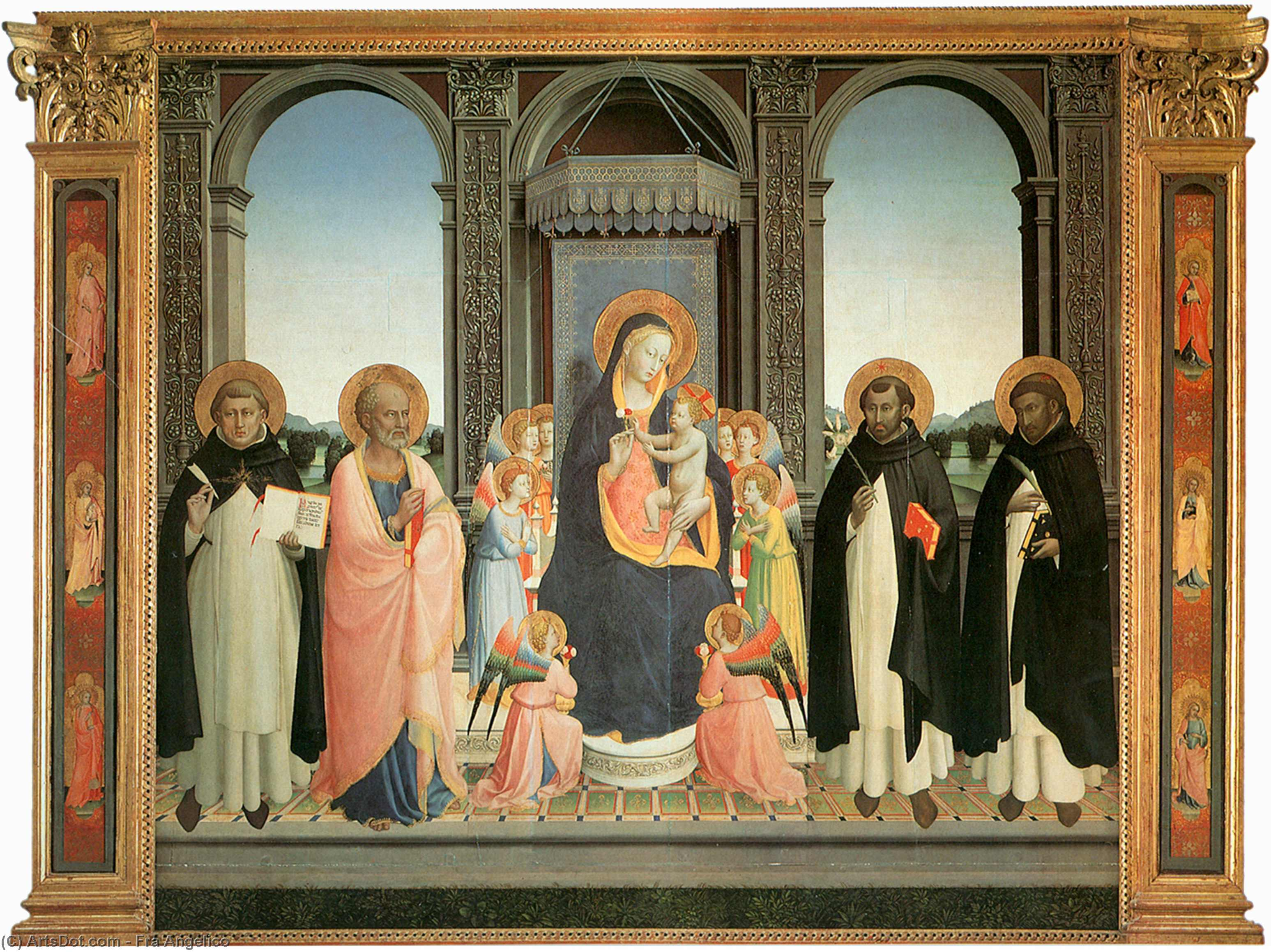 Wikioo.org - The Encyclopedia of Fine Arts - Painting, Artwork by Fra Angelico - San Domenico Altarpiece