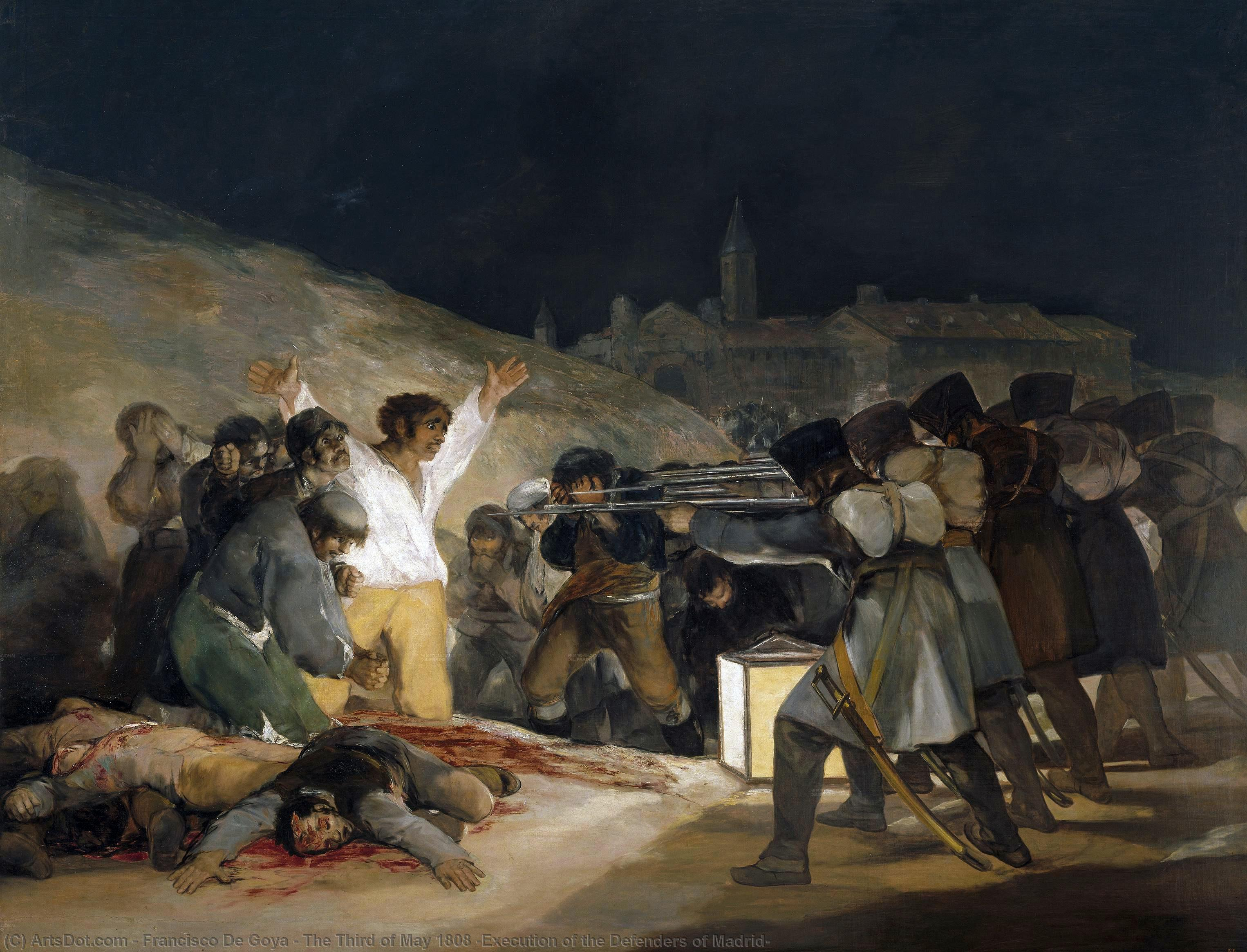 Wikioo.org - The Encyclopedia of Fine Arts - Painting, Artwork by Francisco De Goya - The Third of May 1808 (Execution of the Defenders of Madrid)