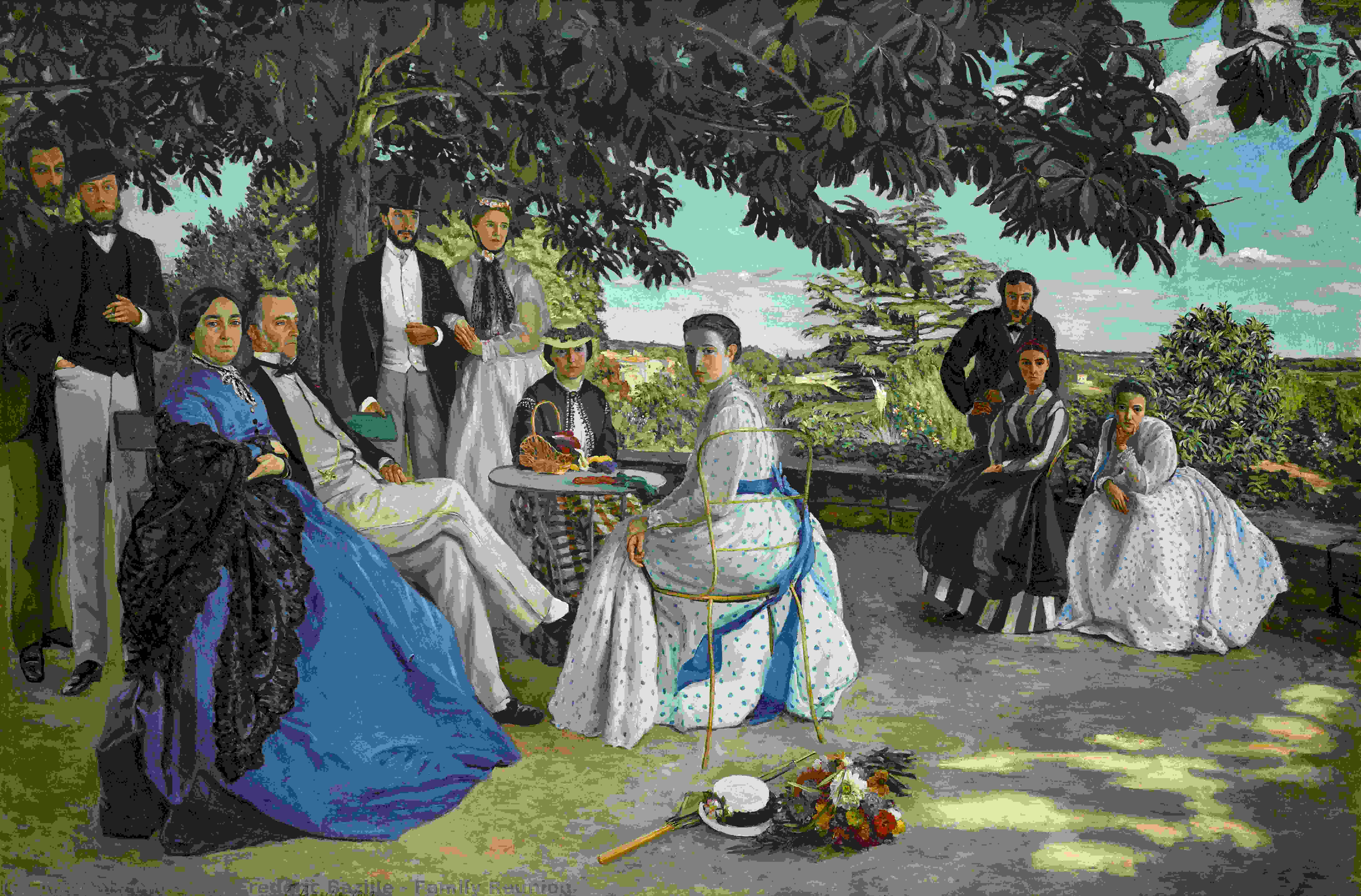 Wikioo.org - The Encyclopedia of Fine Arts - Painting, Artwork by Jean Frederic Bazille - Family Reunion