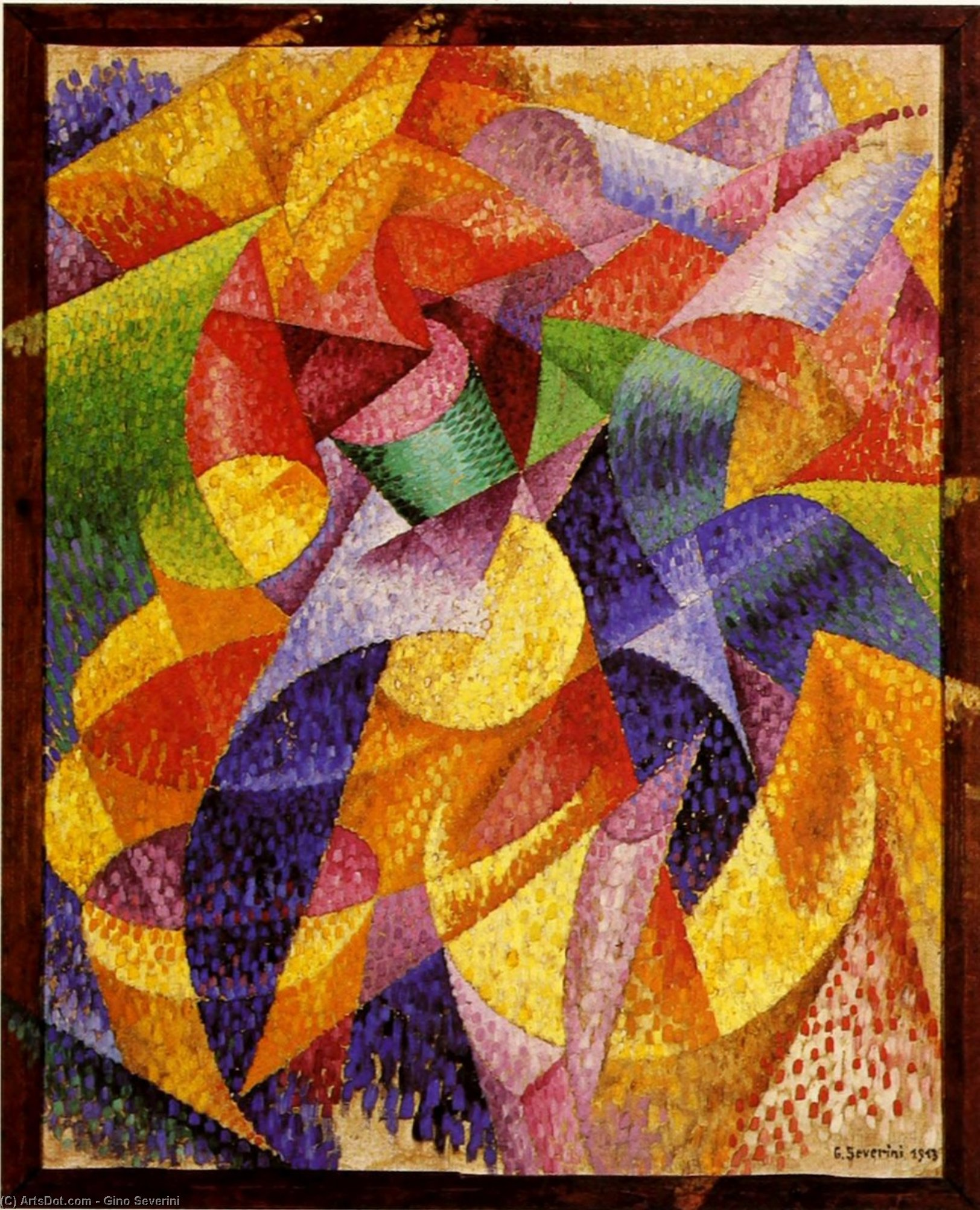 WikiOO.org - Enciclopedia of Fine Arts - Pictura, lucrări de artă Gino Severini - Sea = Dancer