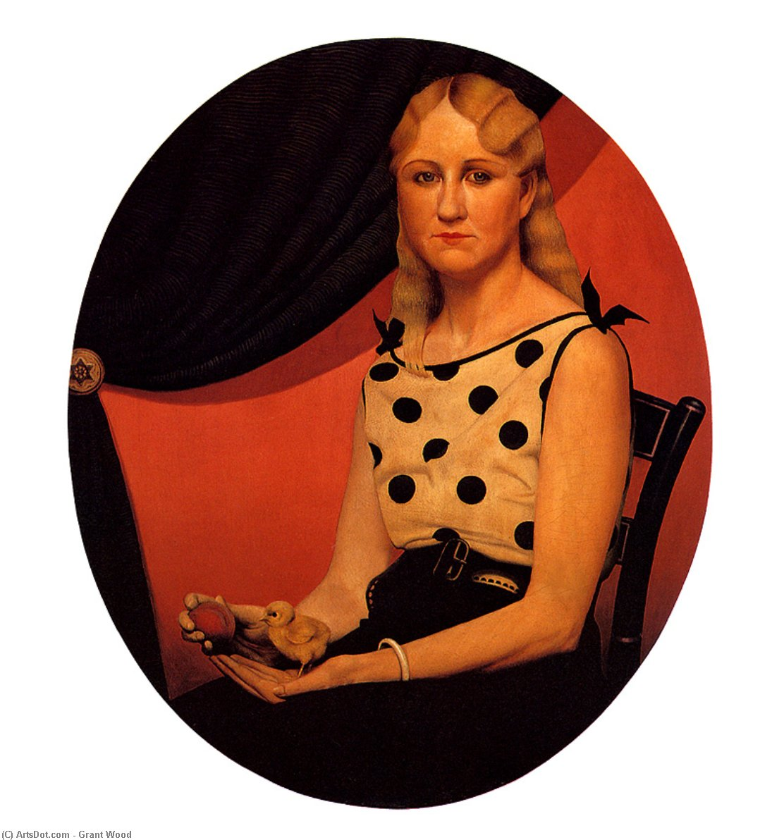 Wikioo.org - The Encyclopedia of Fine Arts - Painting, Artwork by Grant Wood - Portrait of Nan