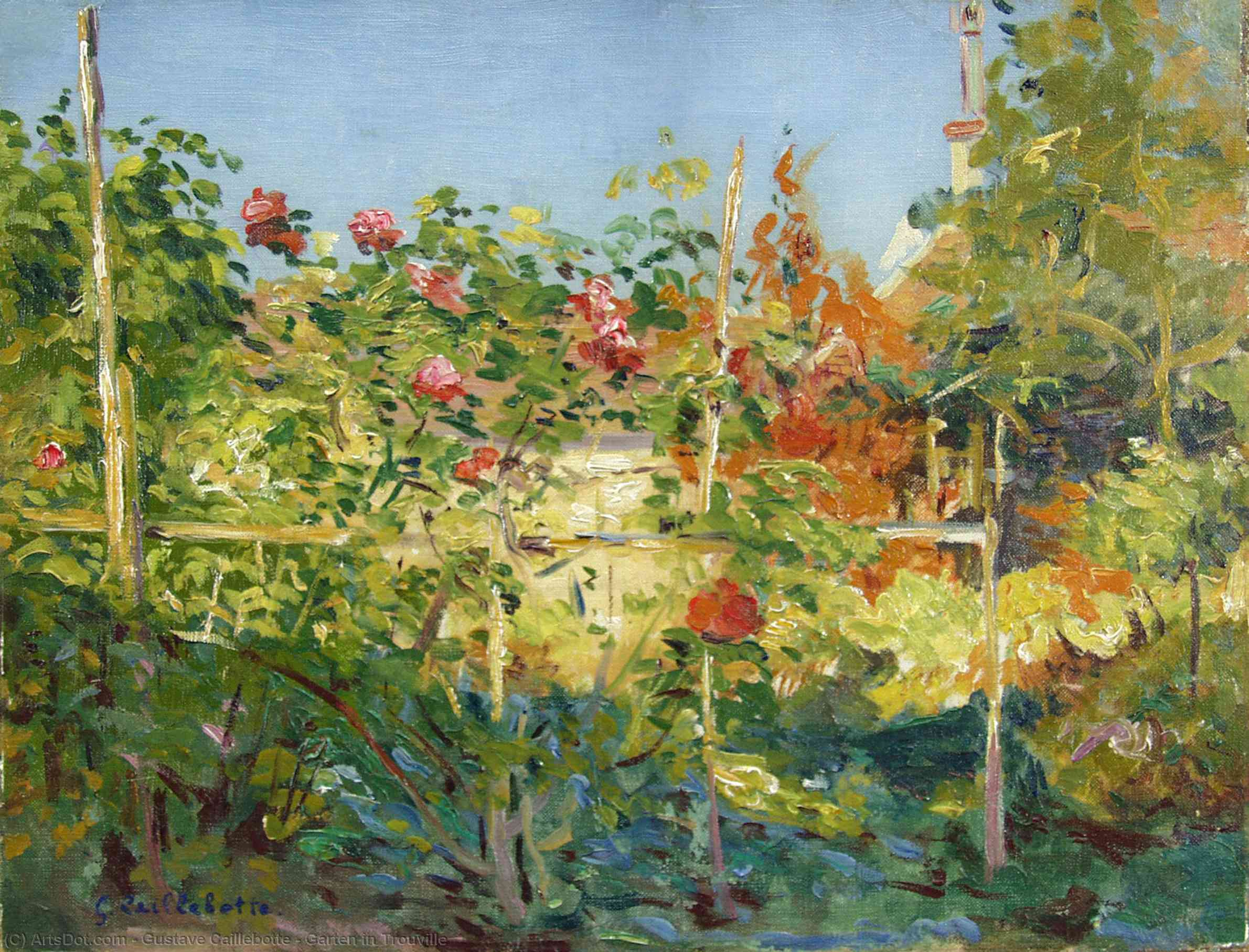 Wikioo.org - The Encyclopedia of Fine Arts - Painting, Artwork by Gustave Caillebotte - Garten in Trouville