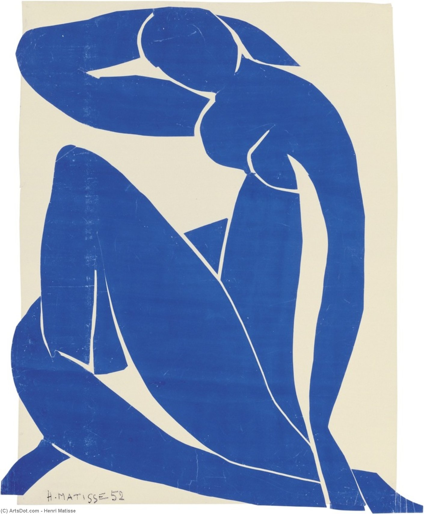 Wikioo.org - The Encyclopedia of Fine Arts - Painting, Artwork by Henri Matisse - Blue Nude