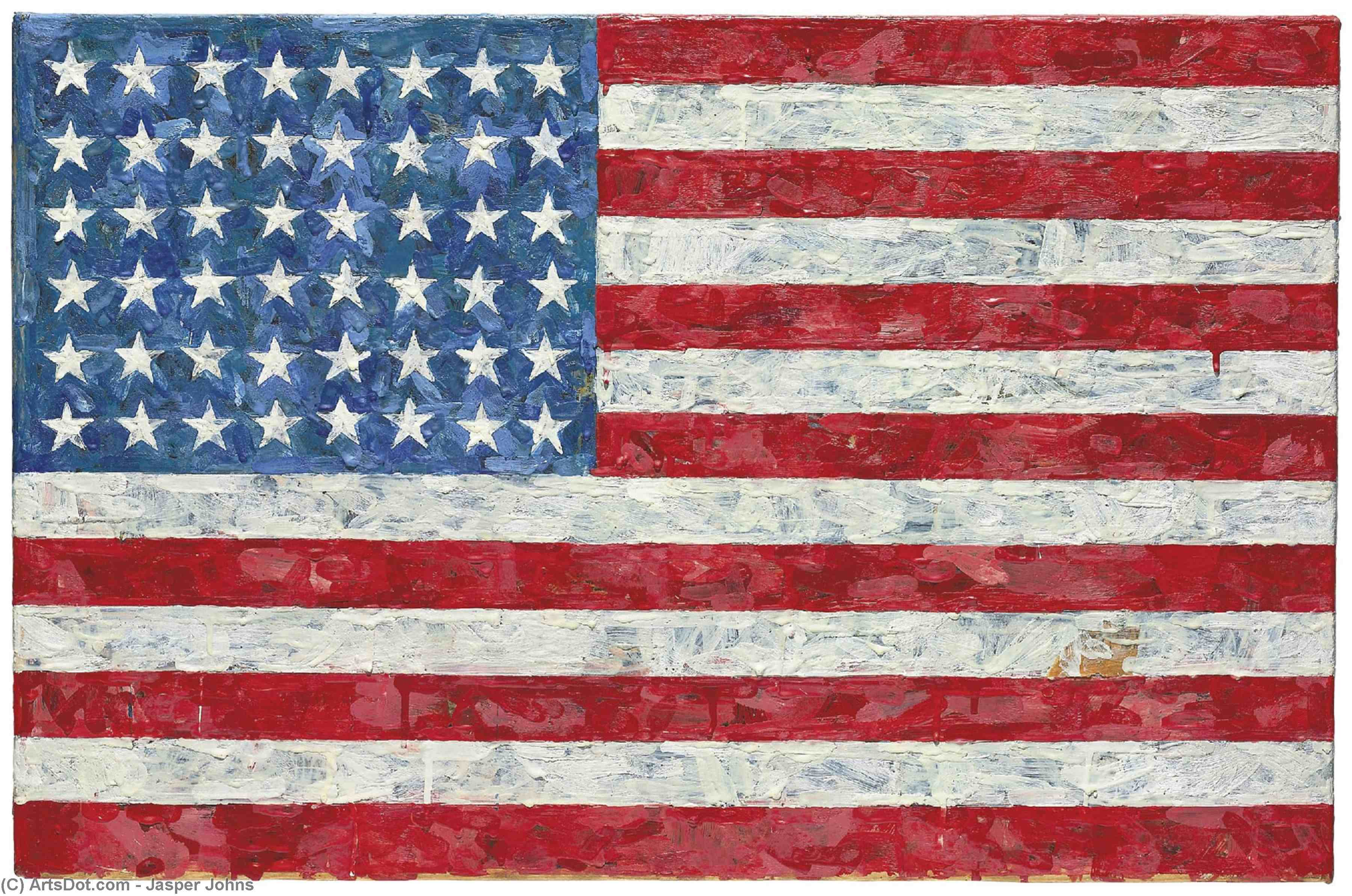 Wikioo.org - The Encyclopedia of Fine Arts - Painting, Artwork by Jasper Johns - Flag