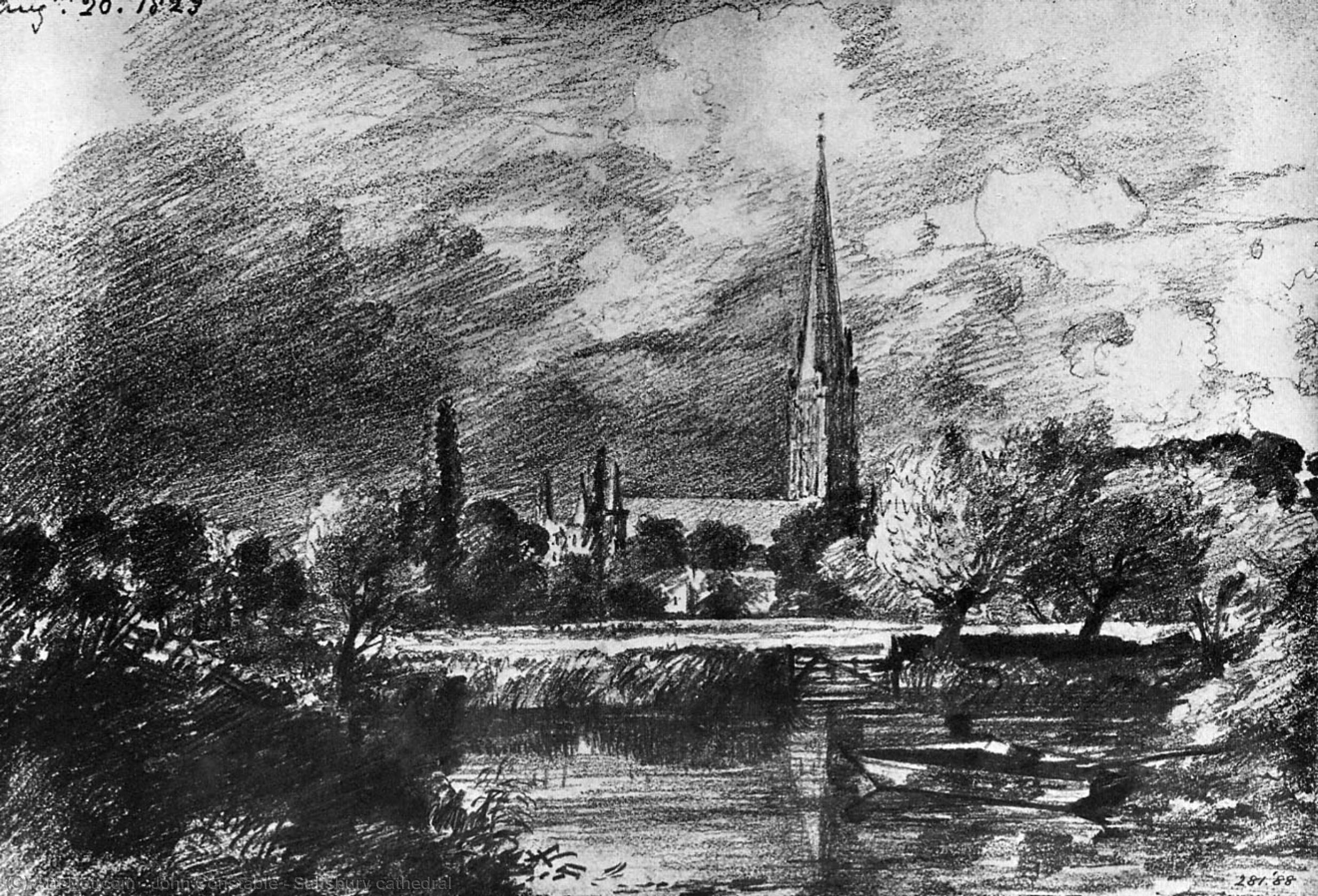 Wikioo.org - The Encyclopedia of Fine Arts - Painting, Artwork by John Constable - Salisbury cathedral