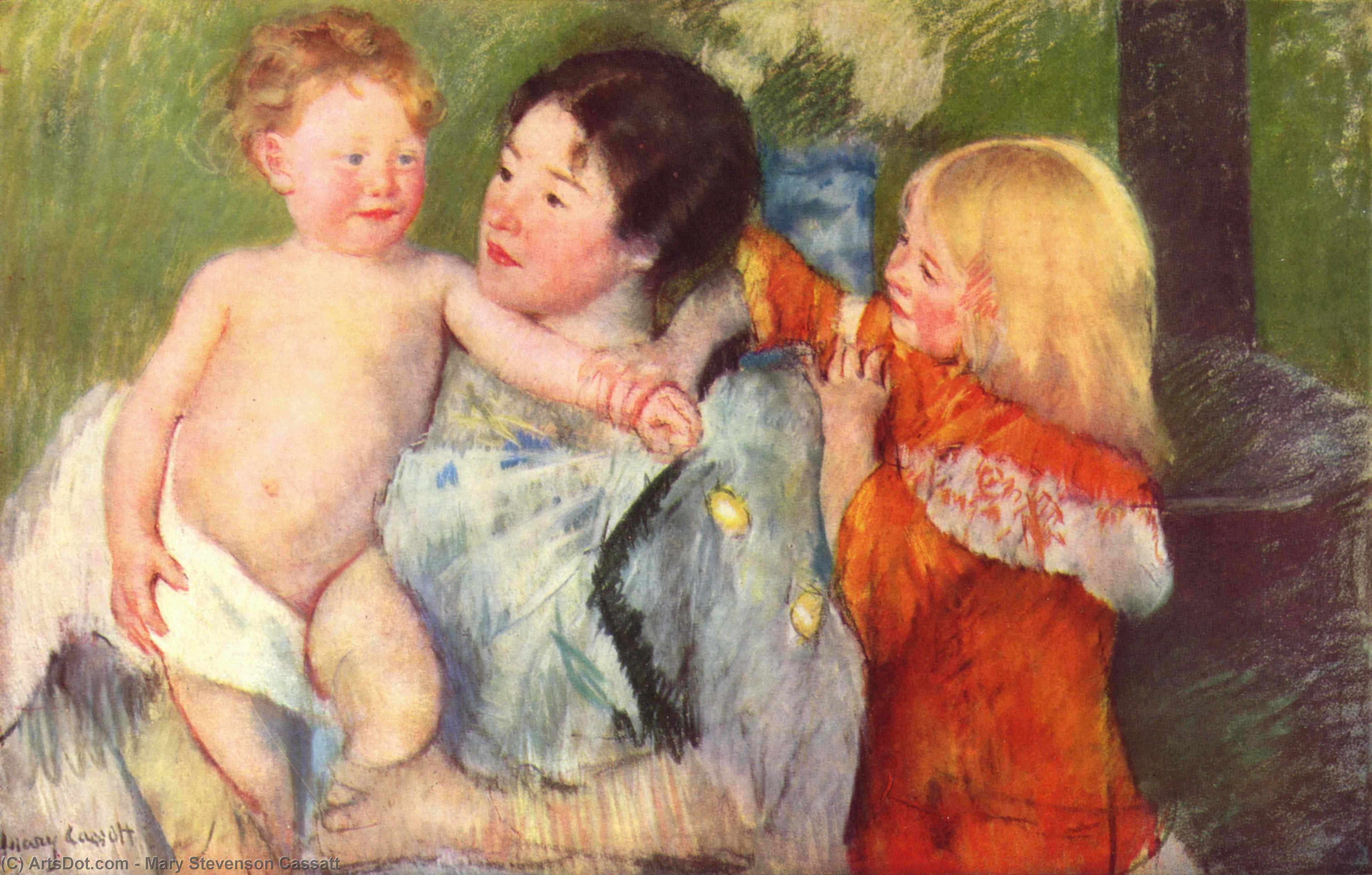 Wikioo.org - สารานุกรมวิจิตรศิลป์ - จิตรกรรม Mary Stevenson Cassatt - After thebath