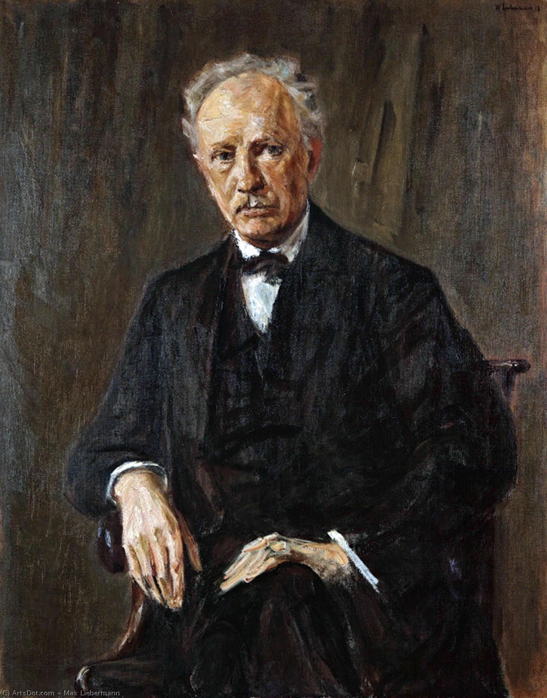 Wikioo.org - The Encyclopedia of Fine Arts - Painting, Artwork by Max Liebermann - Portrait of Richard Strauss