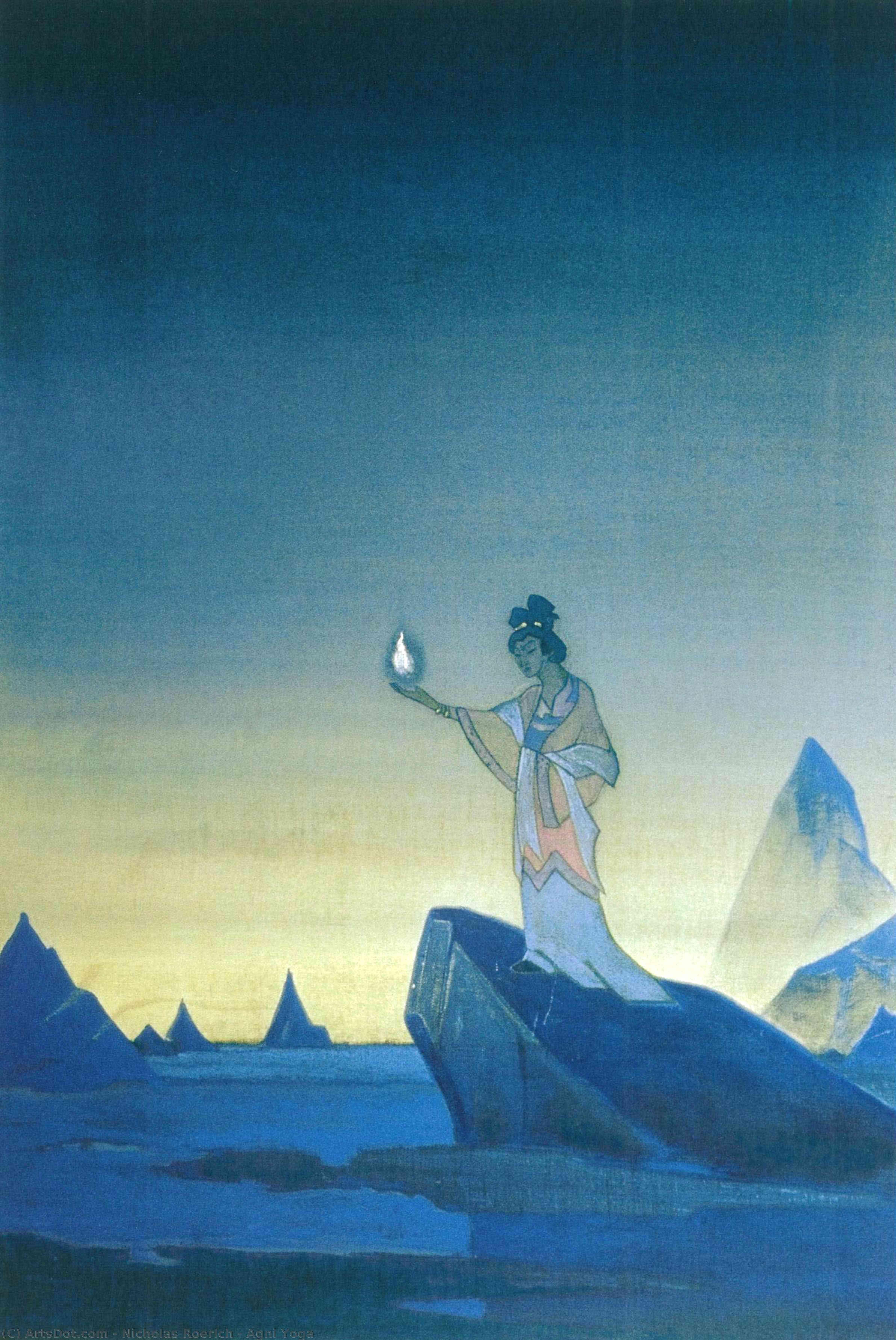 Wikoo.org - موسوعة الفنون الجميلة - اللوحة، العمل الفني Nicholas Roerich - Agni Yoga