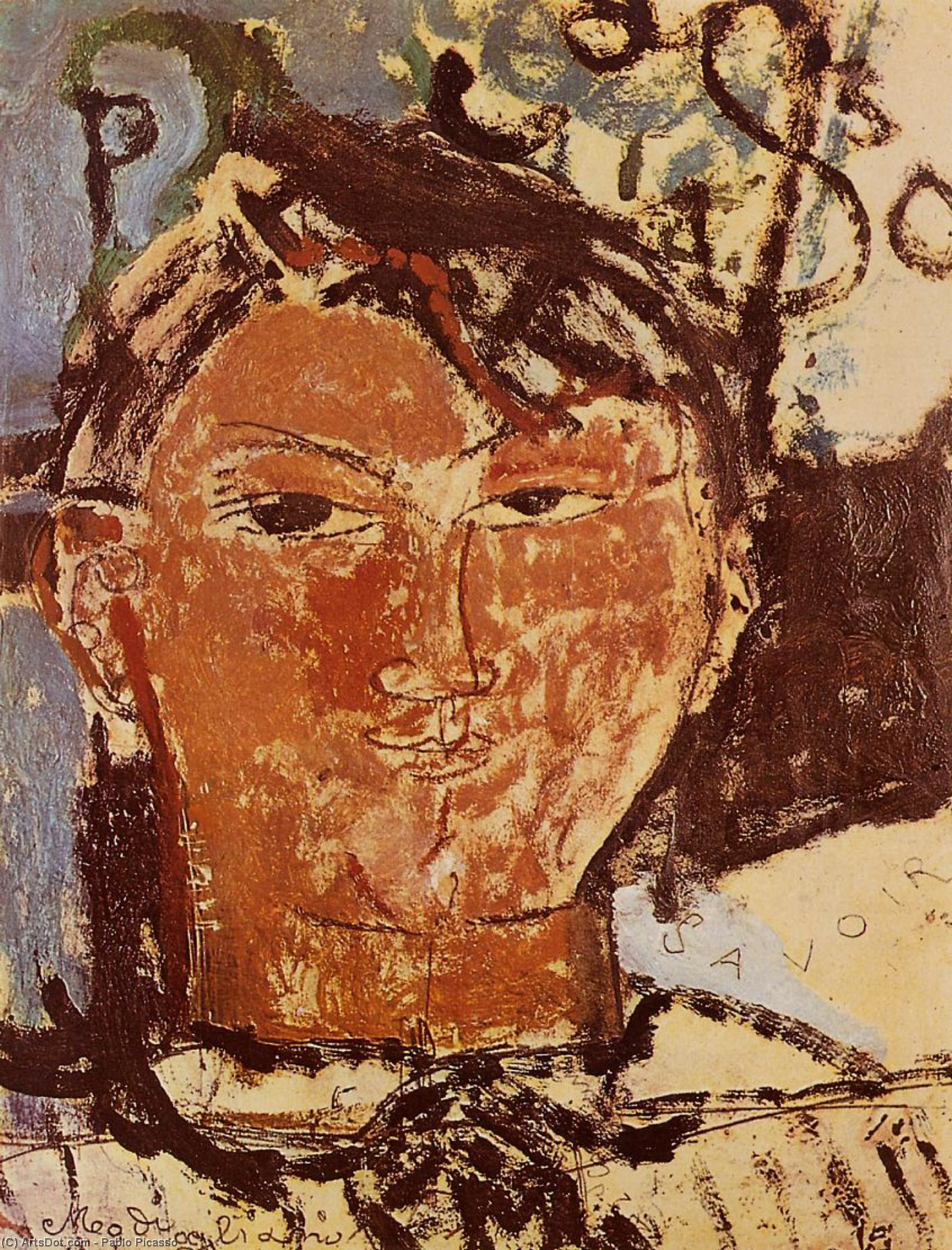 Wikioo.org - The Encyclopedia of Fine Arts - Painting, Artwork by Pablo Picasso - Portrait of Daniel-Henry Kahnweiler