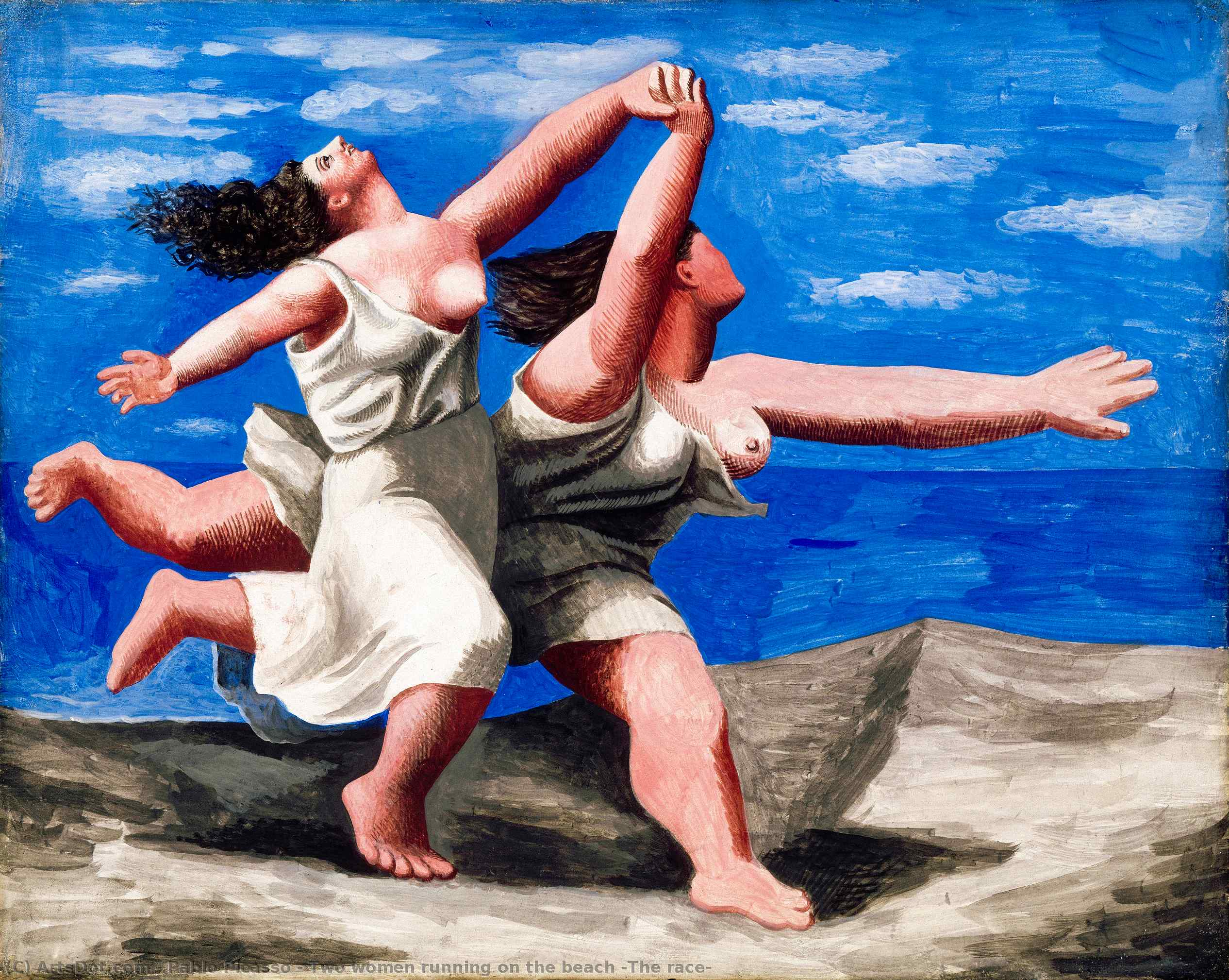 Wikioo.org - The Encyclopedia of Fine Arts - Painting, Artwork by Pablo Picasso - Two women running on the beach (The race)