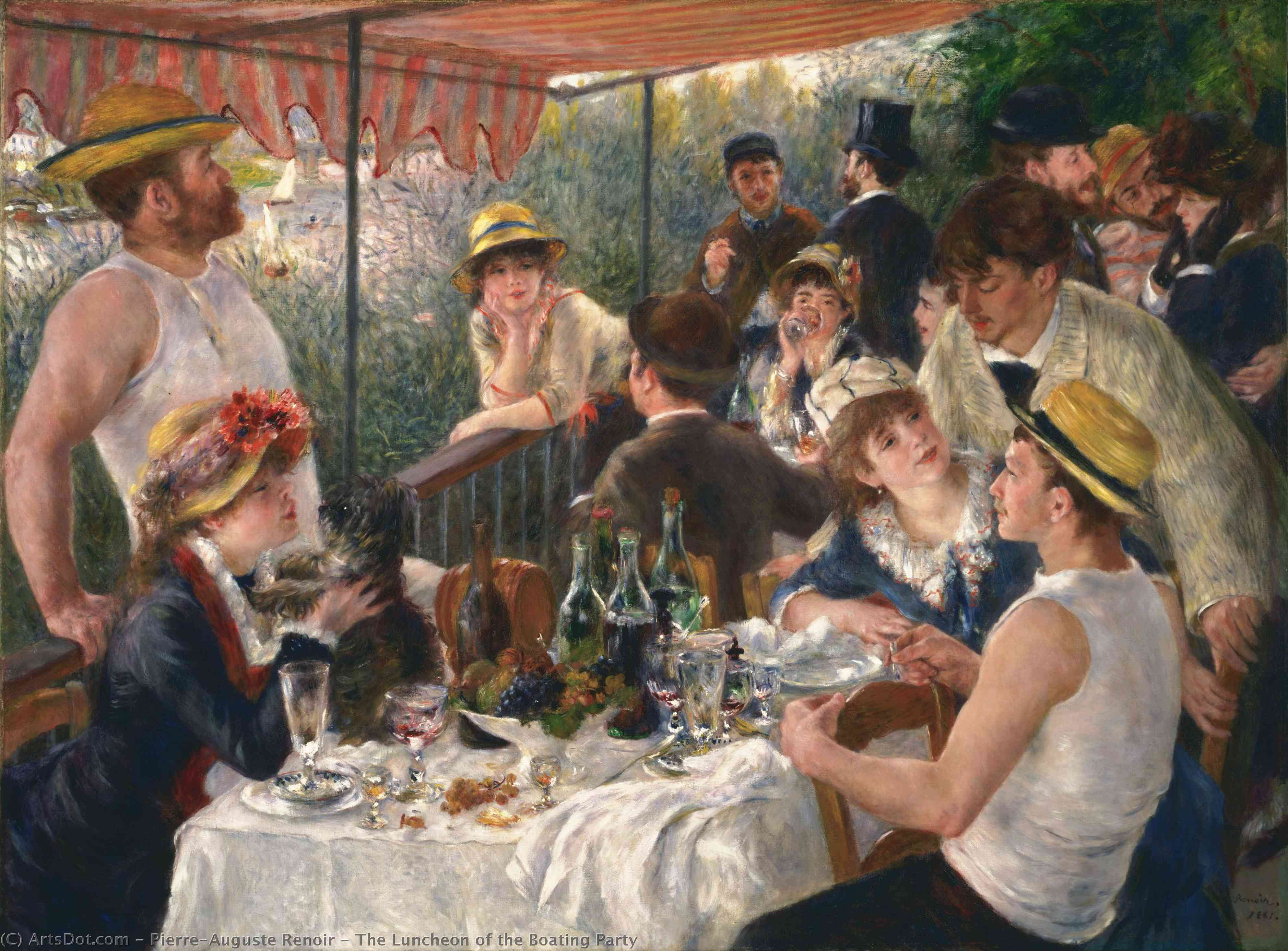 Wikioo.org - The Encyclopedia of Fine Arts - Painting, Artwork by Pierre-Auguste Renoir - The Luncheon of the Boating Party