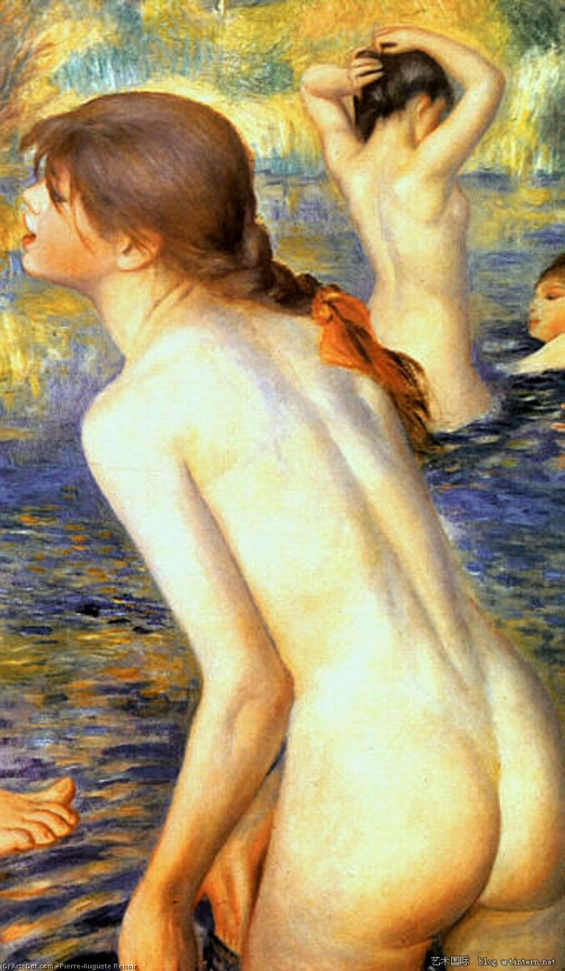 renoir large bathers Pierre auguste renoir the large bathers painting for sale, this painting is available as 100% handmade reproduction shop for pierre auguste renoir the large bathers painting and frame at a discount of 50% off.