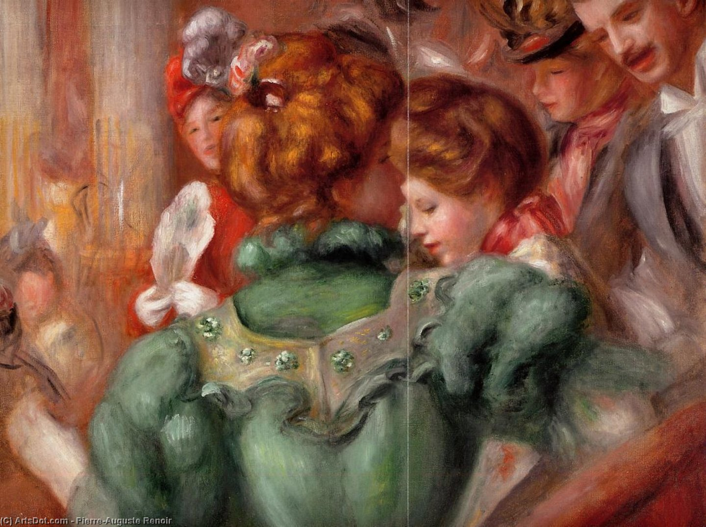 Wikioo.org - The Encyclopedia of Fine Arts - Painting, Artwork by Pierre-Auguste Renoir - A Box in the Theater des Varietes