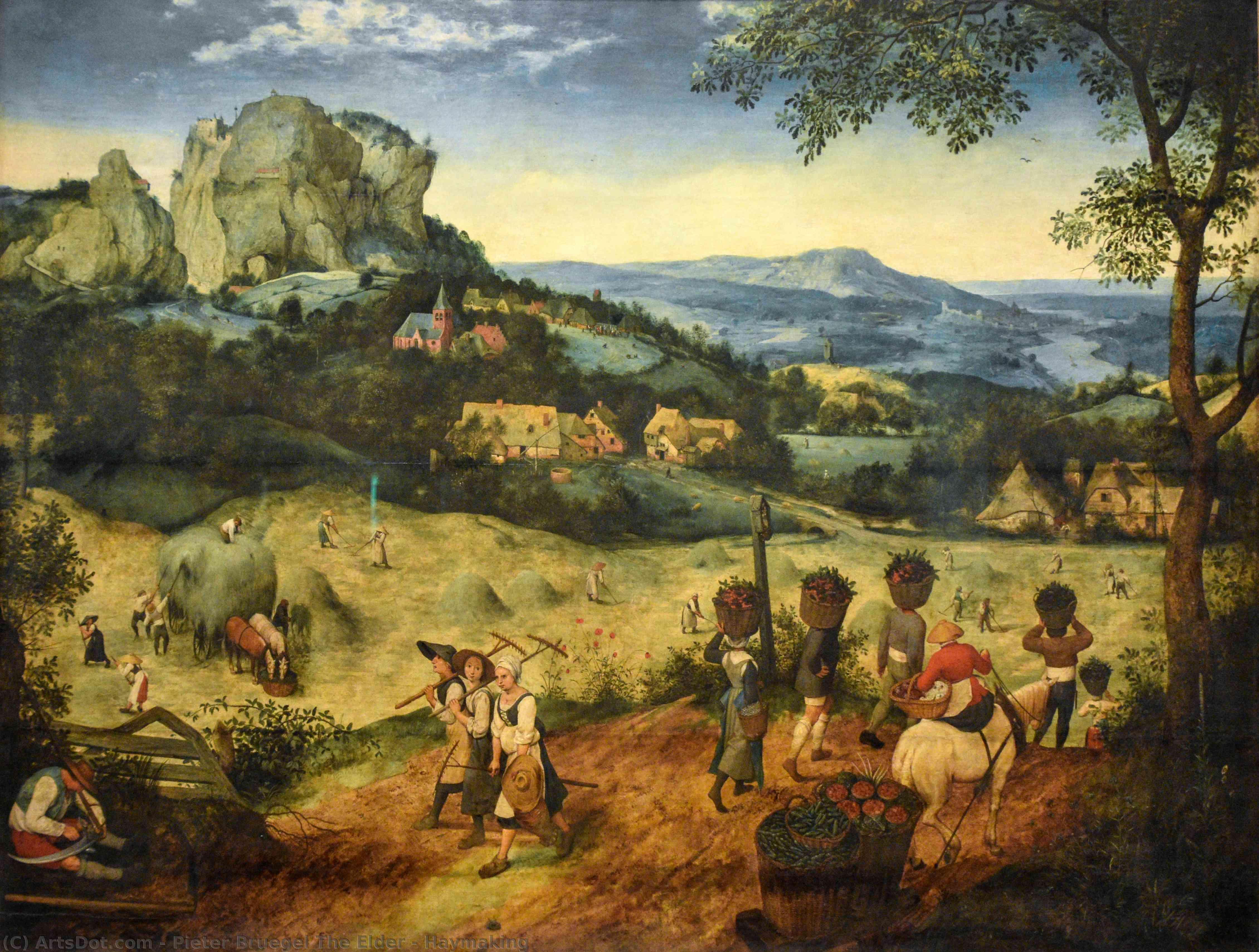 Wikioo.org - The Encyclopedia of Fine Arts - Painting, Artwork by Pieter Bruegel The Elder - Haymaking