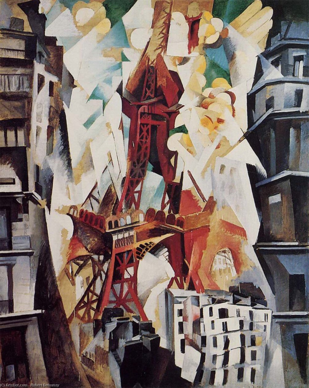 Wikioo.org - The Encyclopedia of Fine Arts - Painting, Artwork by Robert Delaunay - Eiffel Tower