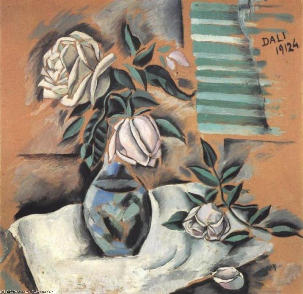 Wikioo.org - The Encyclopedia of Fine Arts - Painting, Artwork by Salvador Dali - Bouquet (L'Important c'est la Rose)