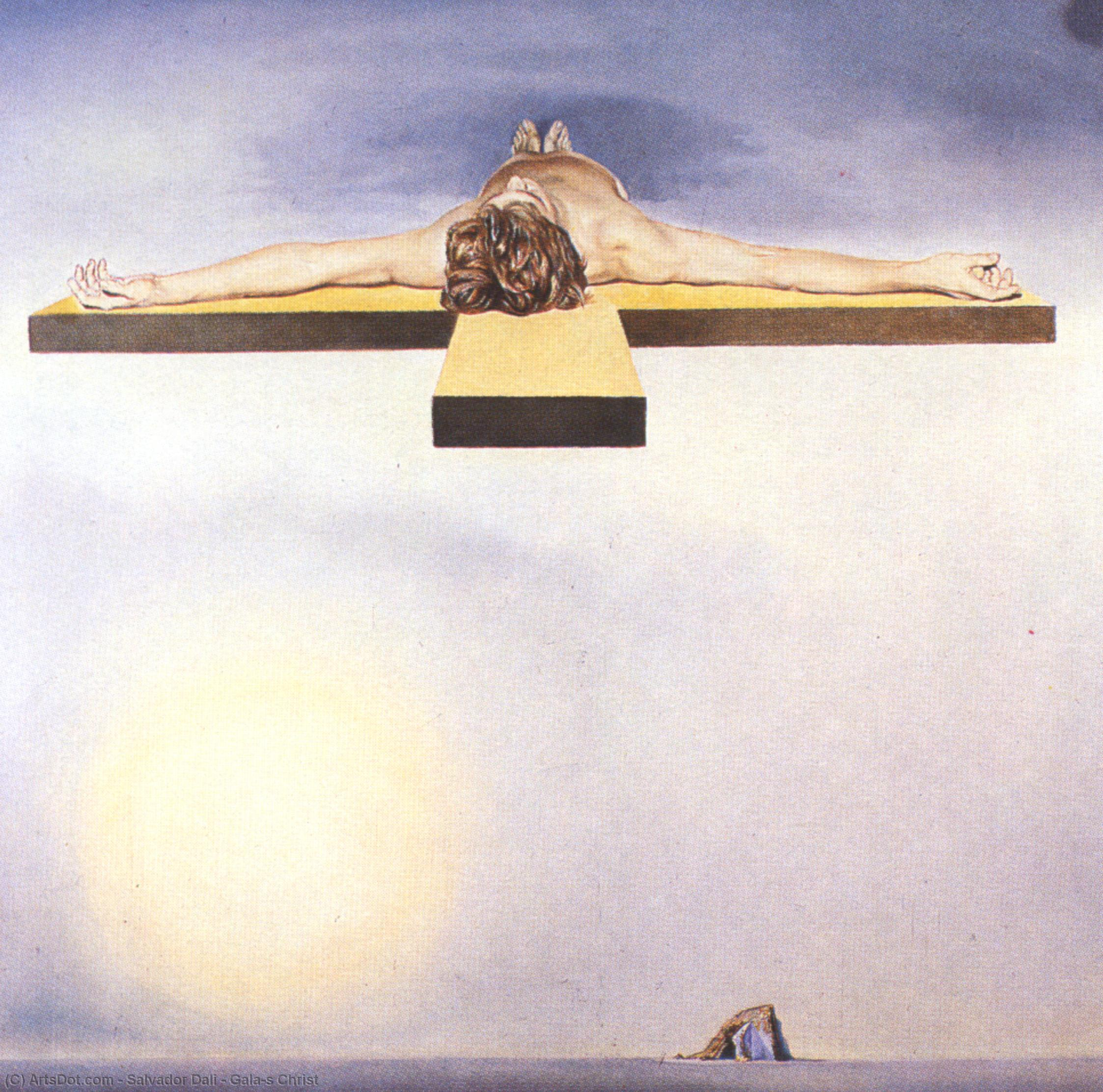 Wikioo.org - The Encyclopedia of Fine Arts - Painting, Artwork by Salvador Dali - Gala's Christ
