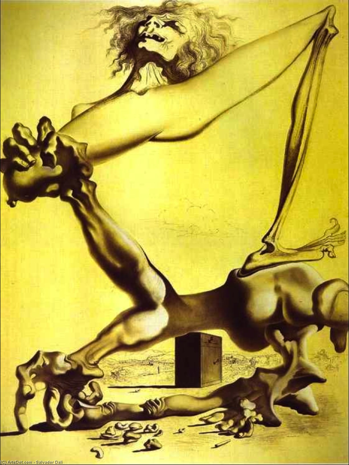 Wikioo.org - The Encyclopedia of Fine Arts - Painting, Artwork by Salvador Dali - Premonition of Civil War