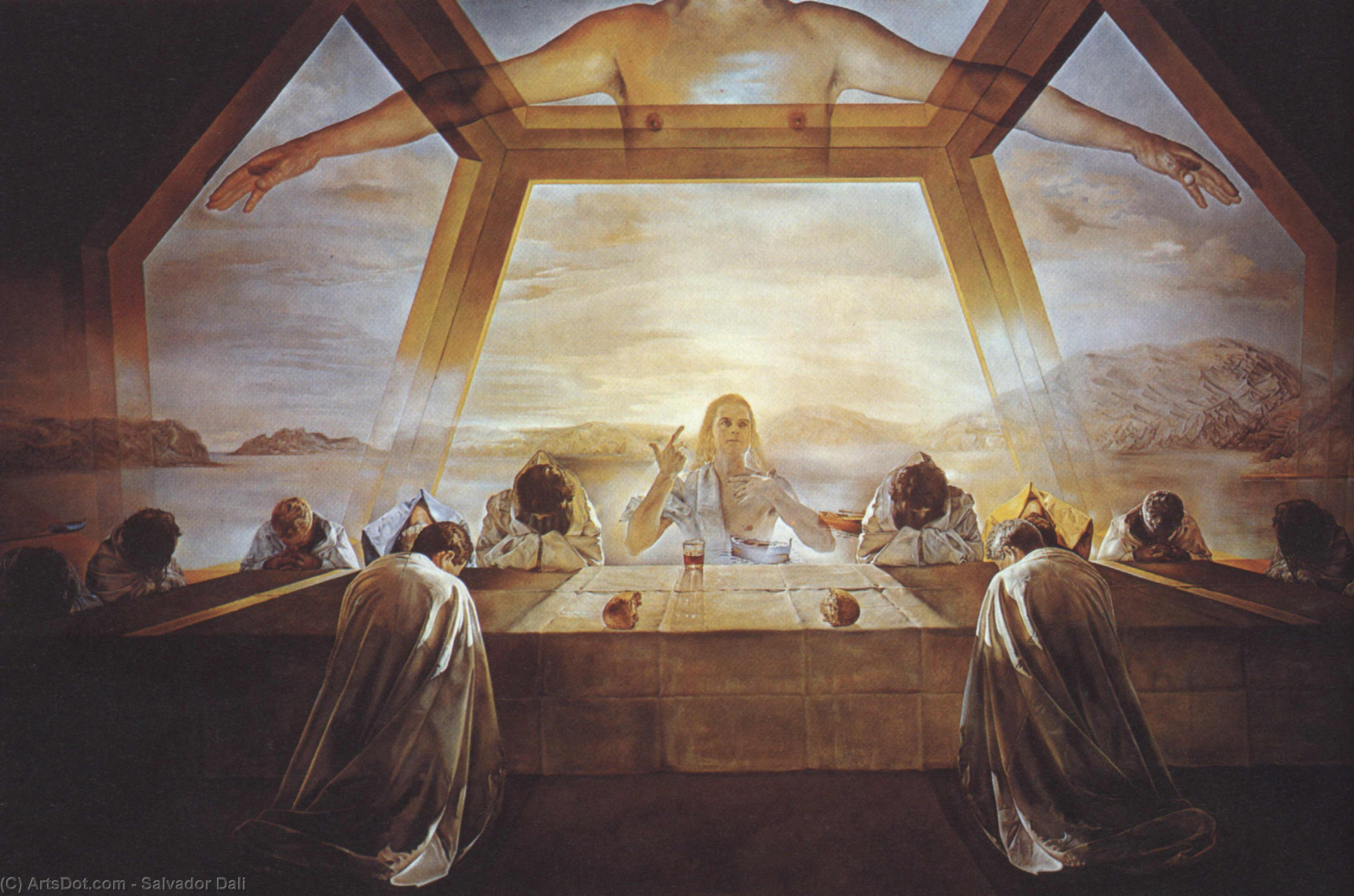 Wikioo.org - The Encyclopedia of Fine Arts - Painting, Artwork by Salvador Dali - The Sacrament of the Last Supper