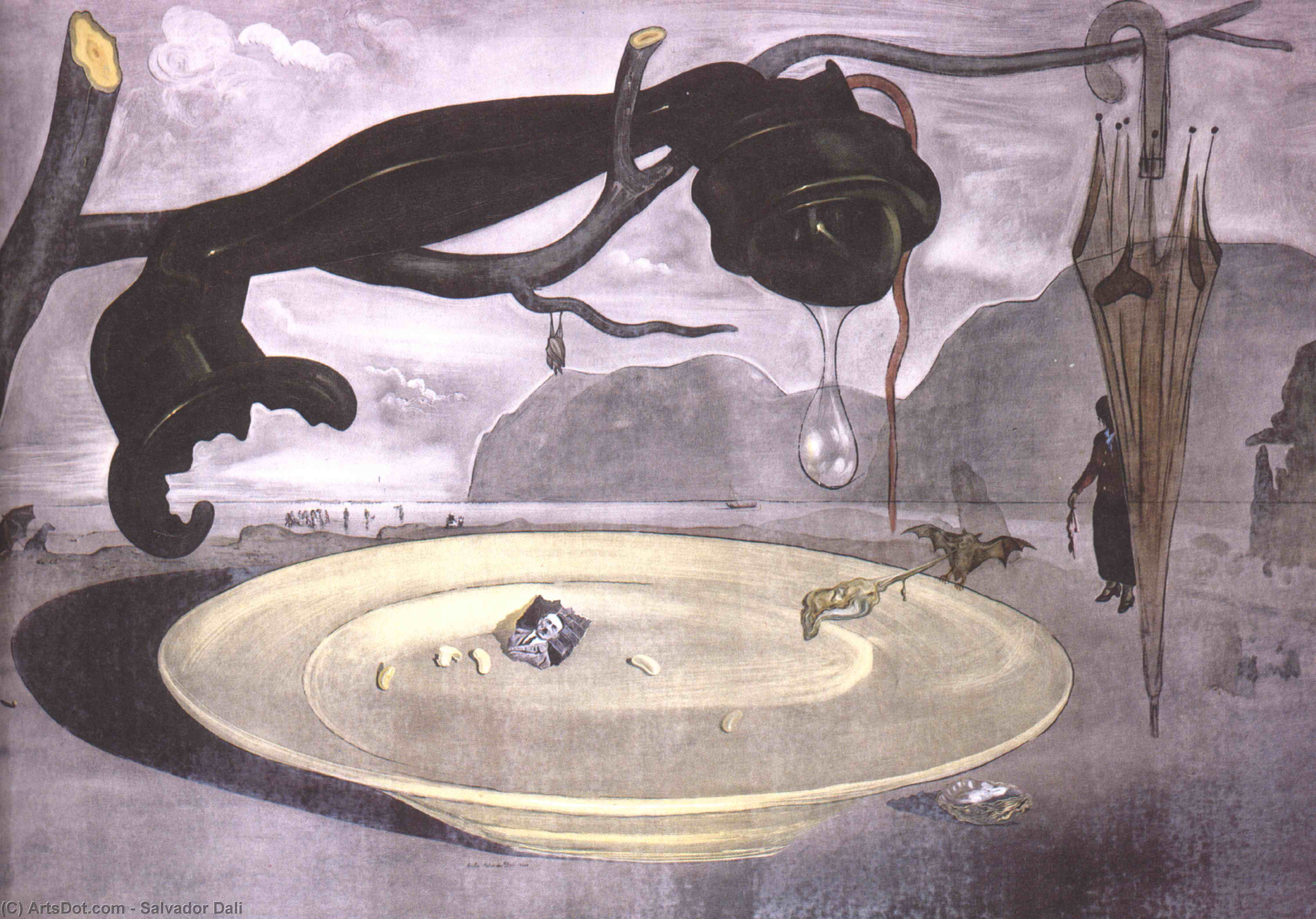 Wikioo.org - The Encyclopedia of Fine Arts - Painting, Artwork by Salvador Dali - The Enigma of Hitler
