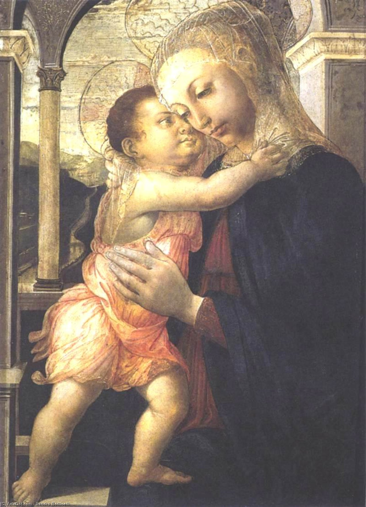 Wikioo.org - The Encyclopedia of Fine Arts - Painting, Artwork by Sandro Botticelli - Madonna and Child