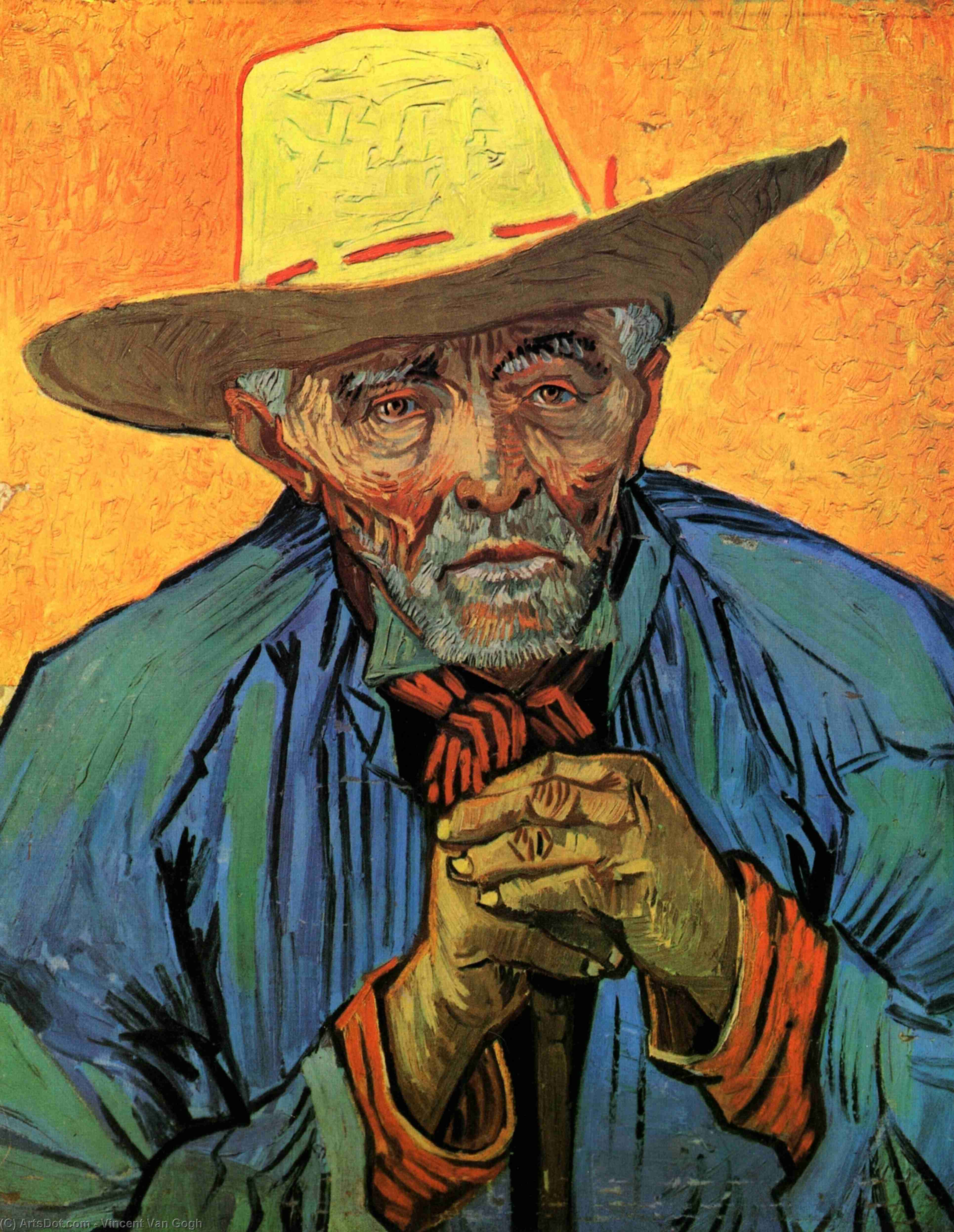 WikiOO.org - 백과 사전 - 회화, 삽화 Vincent Van Gogh - Portrait of Patience Escalier