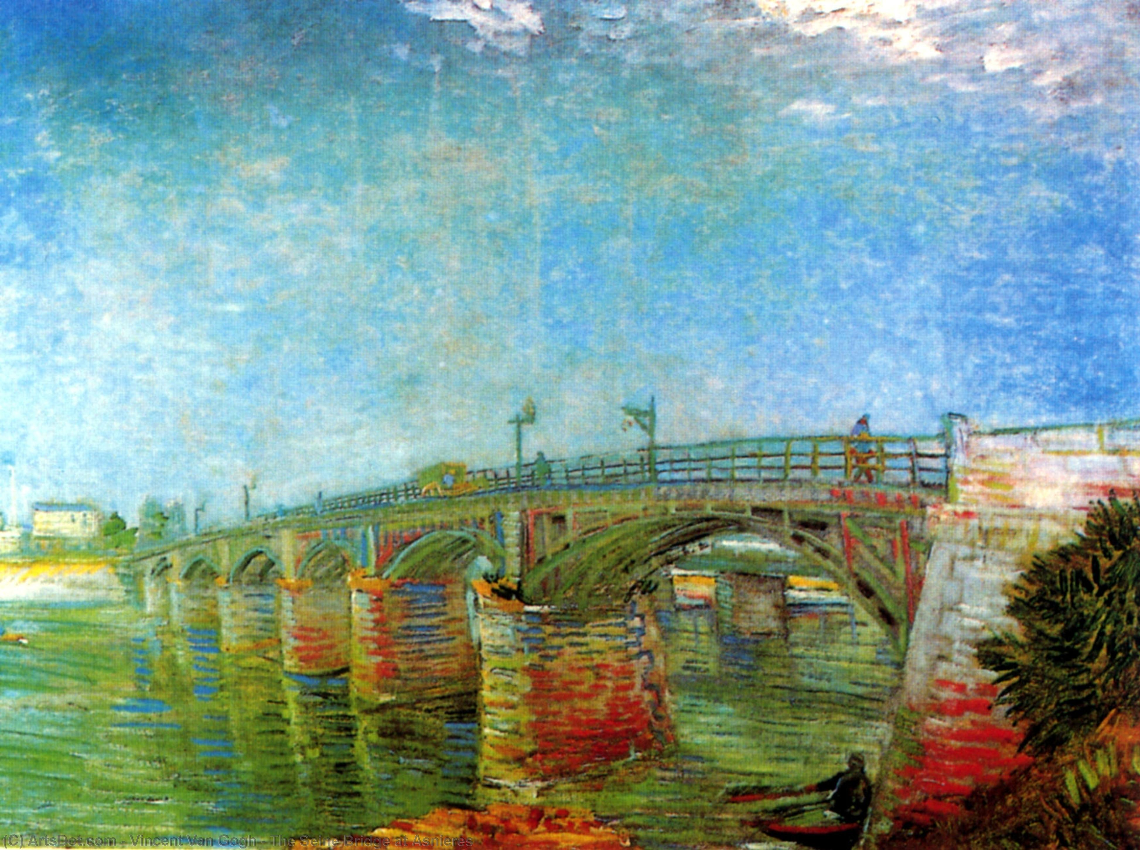 Wikioo.org - The Encyclopedia of Fine Arts - Painting, Artwork by Vincent Van Gogh - The Seine Bridge at Asnieres