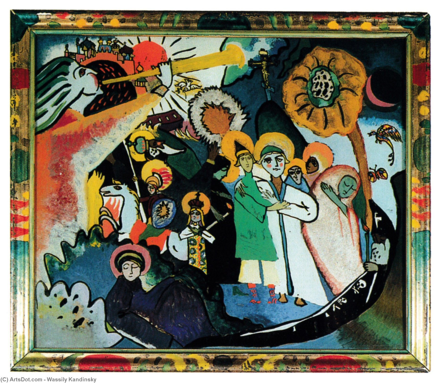 Wikioo.org - The Encyclopedia of Fine Arts - Painting, Artwork by Wassily Kandinsky - All Saints day I