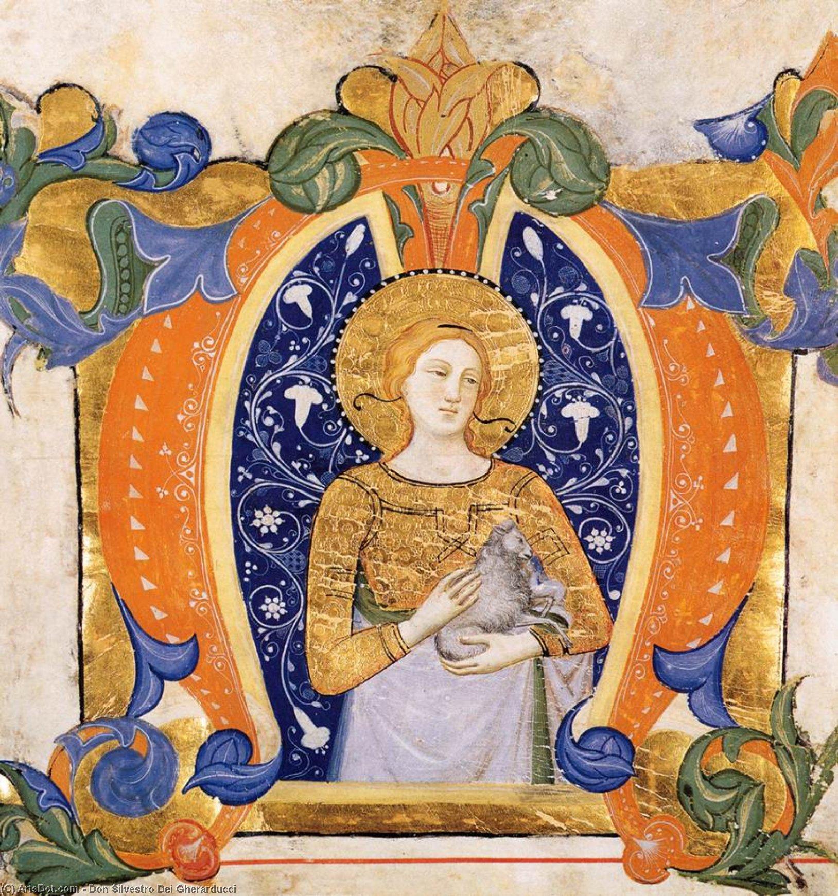 WikiOO.org - Enciklopedija dailės - Tapyba, meno kuriniai Don Silvestro Dei Gherarducci - Gradual from Santa Maria degli Angeli (Folio 32v)