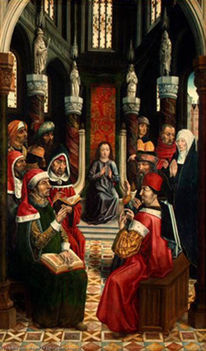 Wikioo.org - The Encyclopedia of Fine Arts - Painting, Artwork by Master Of The Catholic Kings - Christ among the Doctors