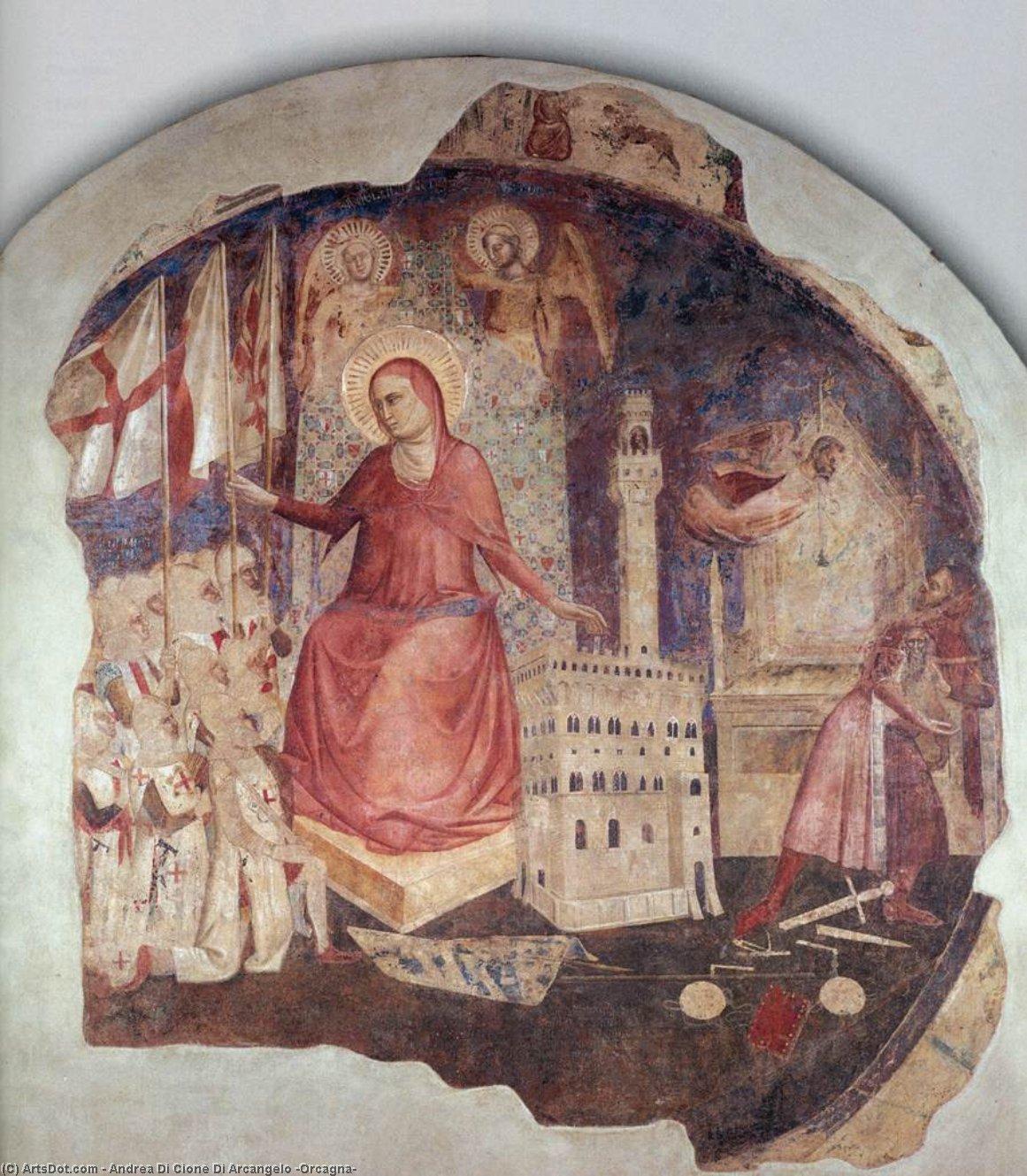 WikiOO.org - Enciklopedija dailės - Tapyba, meno kuriniai Andrea Di Cione Di Arcangelo (Orcagna) - The Expulsion of the Duke of Athens