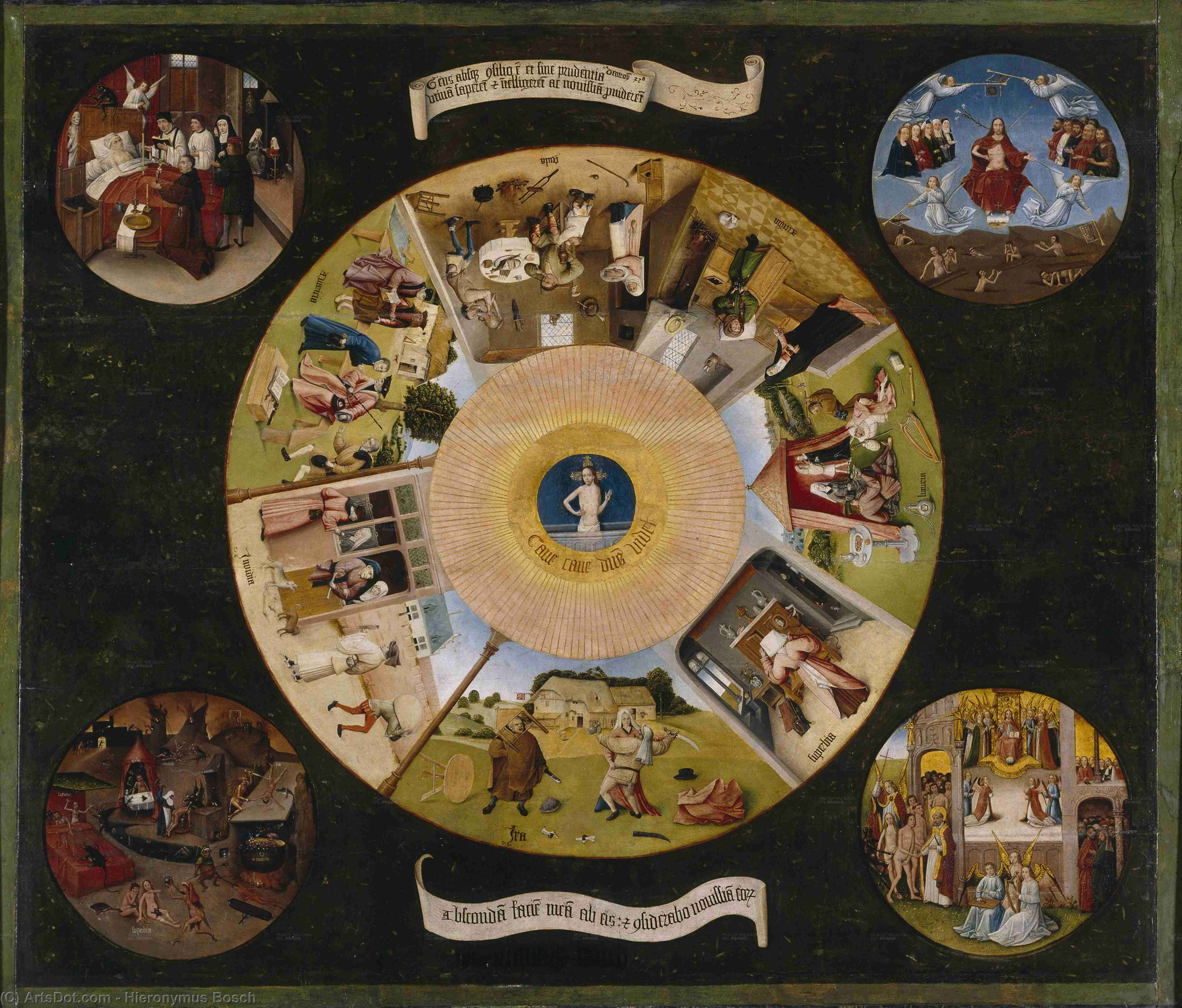 Wikioo.org - The Encyclopedia of Fine Arts - Painting, Artwork by Hieronymus Bosch - The Seven Deadly Sins