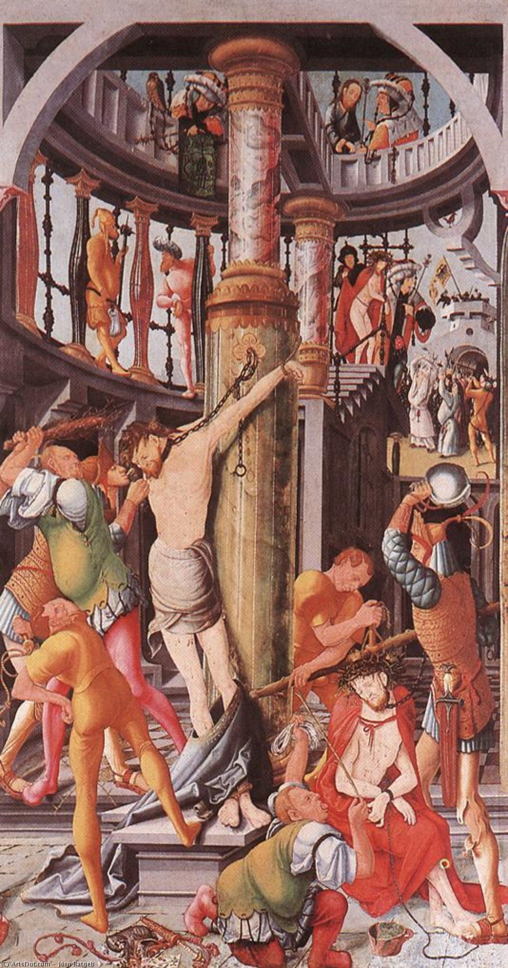 Wikioo.org - The Encyclopedia of Fine Arts - Painting, Artwork by Jörg Ratgeb - Flagellation of Christ