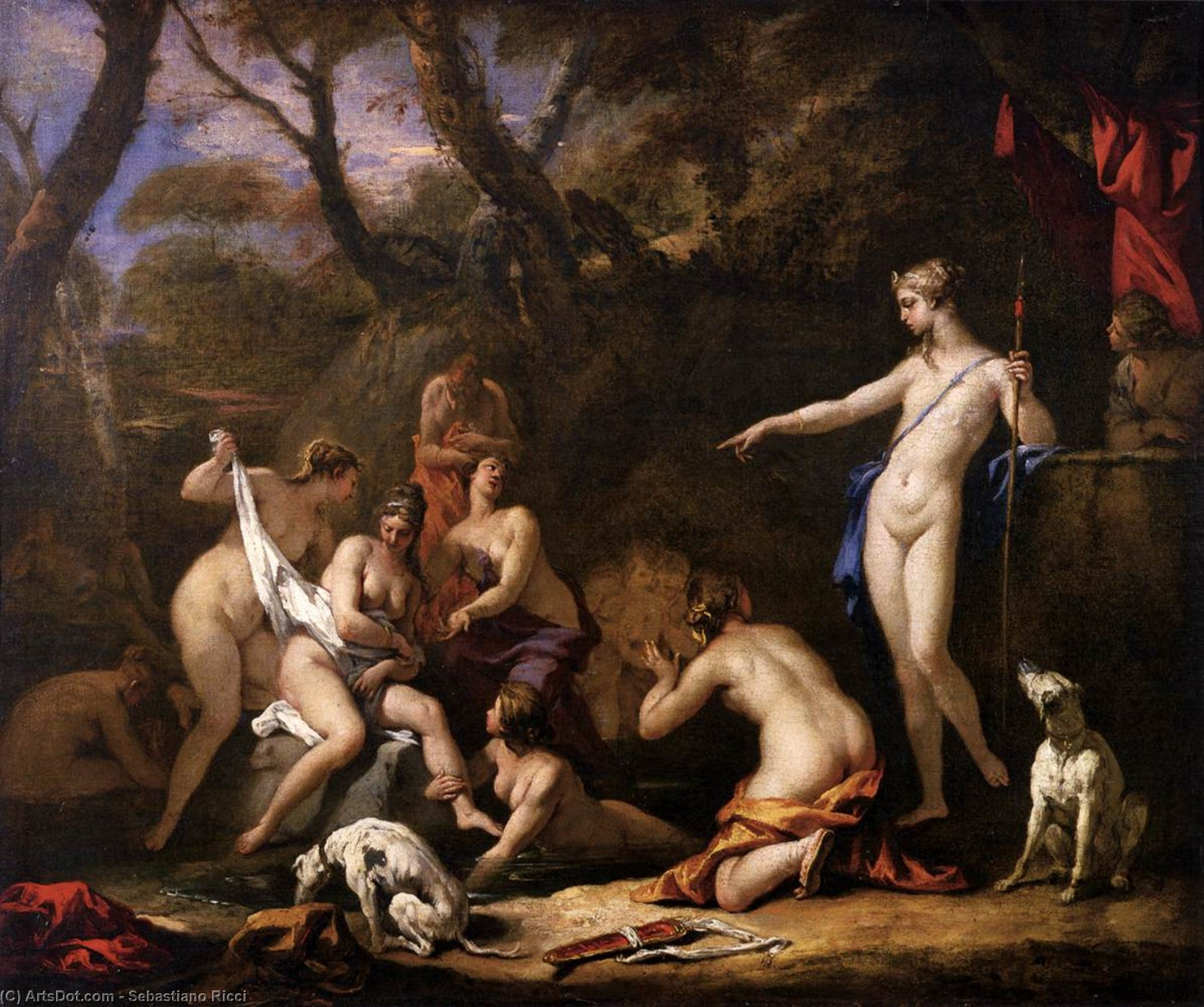 Wikioo.org - The Encyclopedia of Fine Arts - Painting, Artwork by Sebastiano Ricci - Diana and Callisto