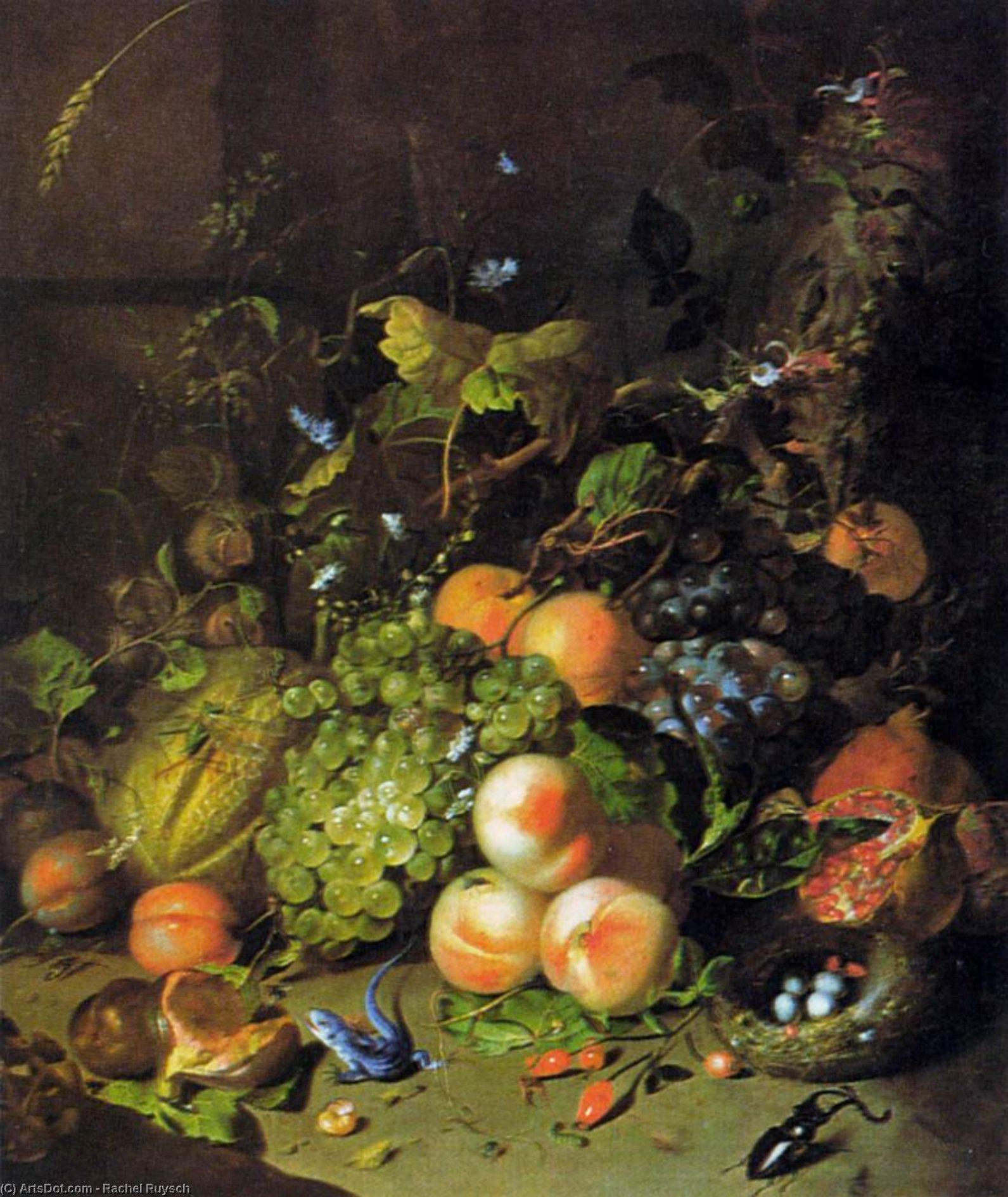 Wikioo.org - The Encyclopedia of Fine Arts - Painting, Artwork by Rachel Ruysch - Flower Still-Life