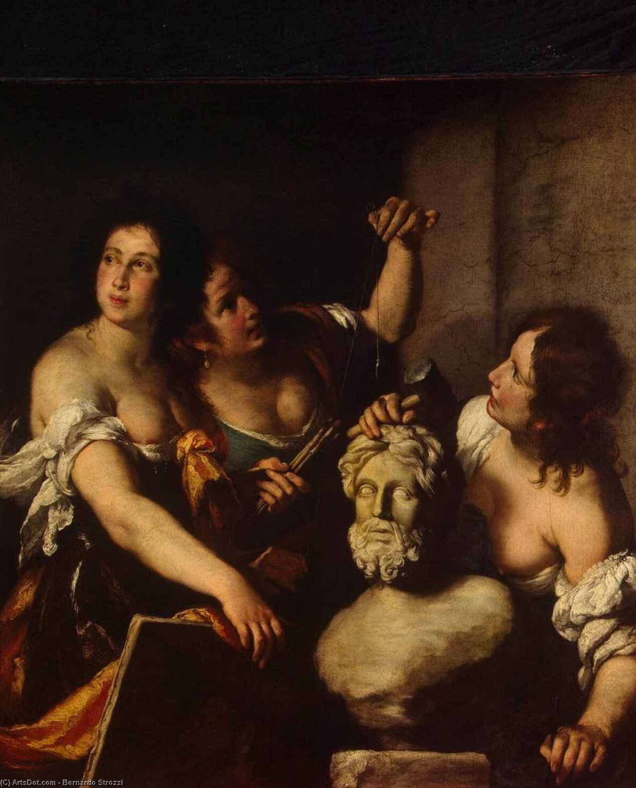 Wikioo.org - The Encyclopedia of Fine Arts - Painting, Artwork by Bernardo Strozzi - Allegory of Arts