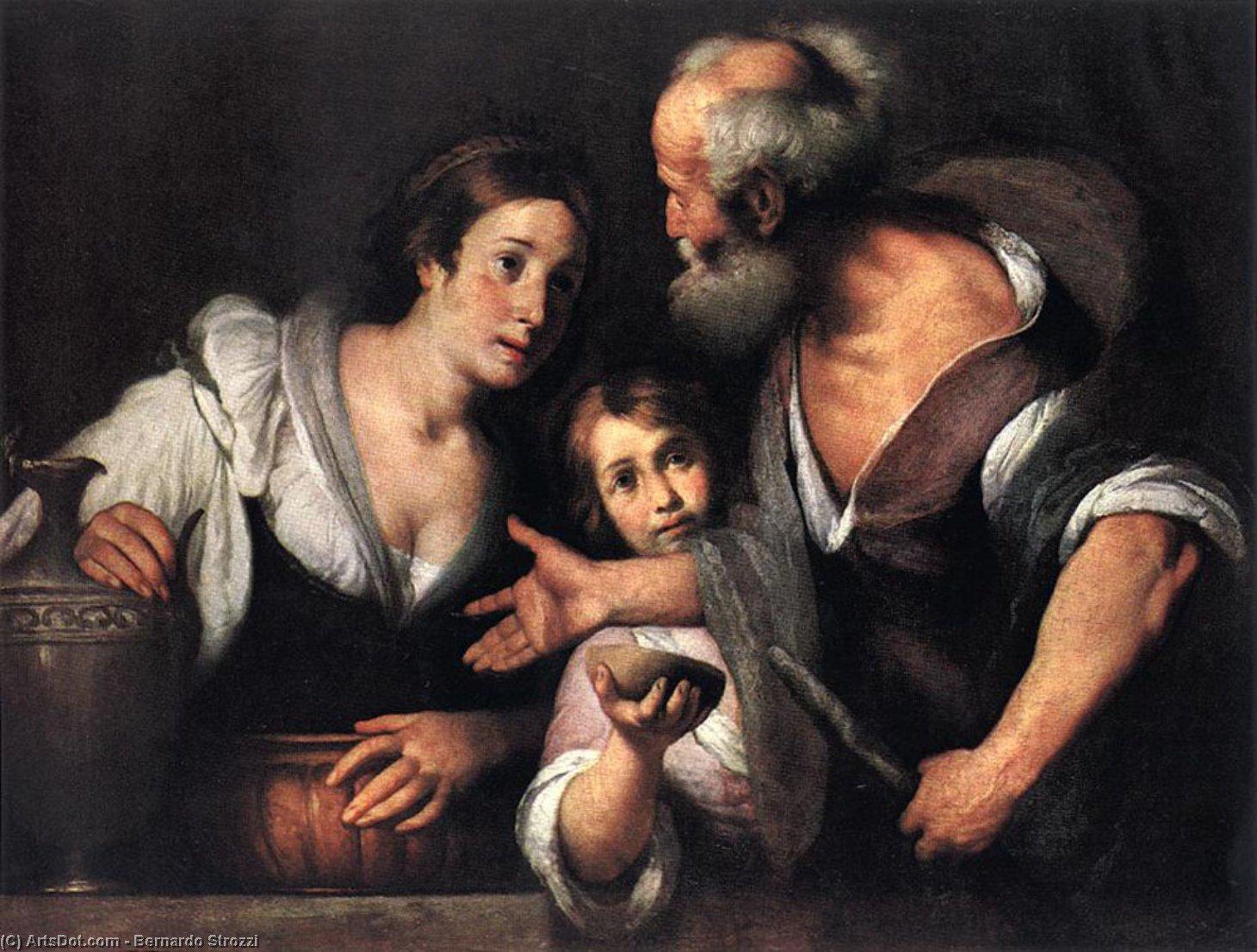 Wikioo.org - The Encyclopedia of Fine Arts - Painting, Artwork by Bernardo Strozzi - Prophet Elijah and the Widow of Sarepta