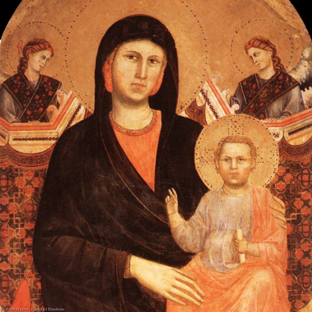 Wikioo.org - The Encyclopedia of Fine Arts - Painting, Artwork by Giotto Di Bondone - Madonna and Child (detail)