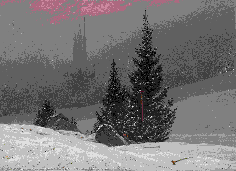 Wikioo.org - The Encyclopedia of Fine Arts - Painting, Artwork by Caspar David Friedrich - Winter Landscape