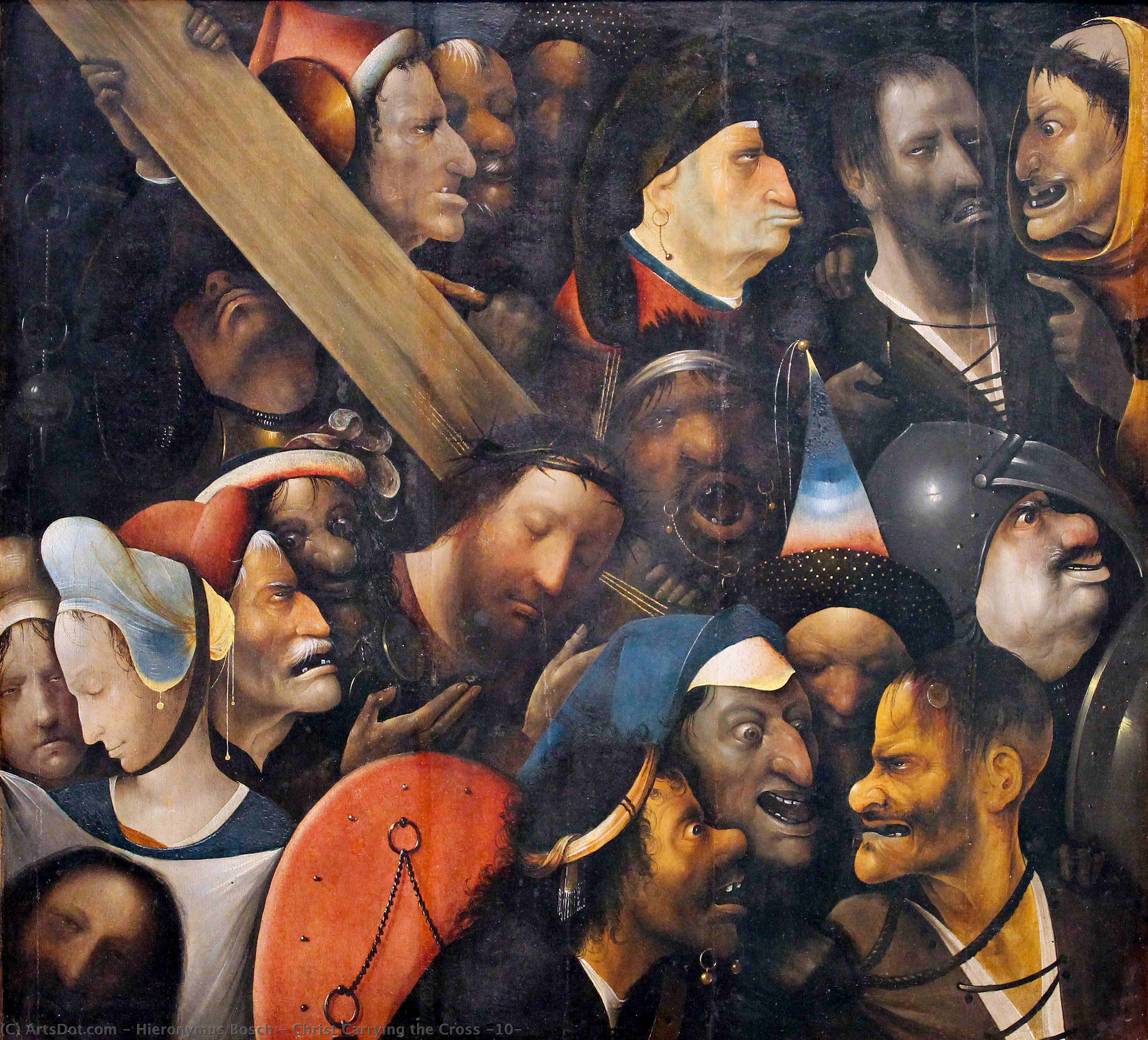 Wikioo.org - The Encyclopedia of Fine Arts - Painting, Artwork by Hieronymus Bosch - Christ Carrying the Cross (10)