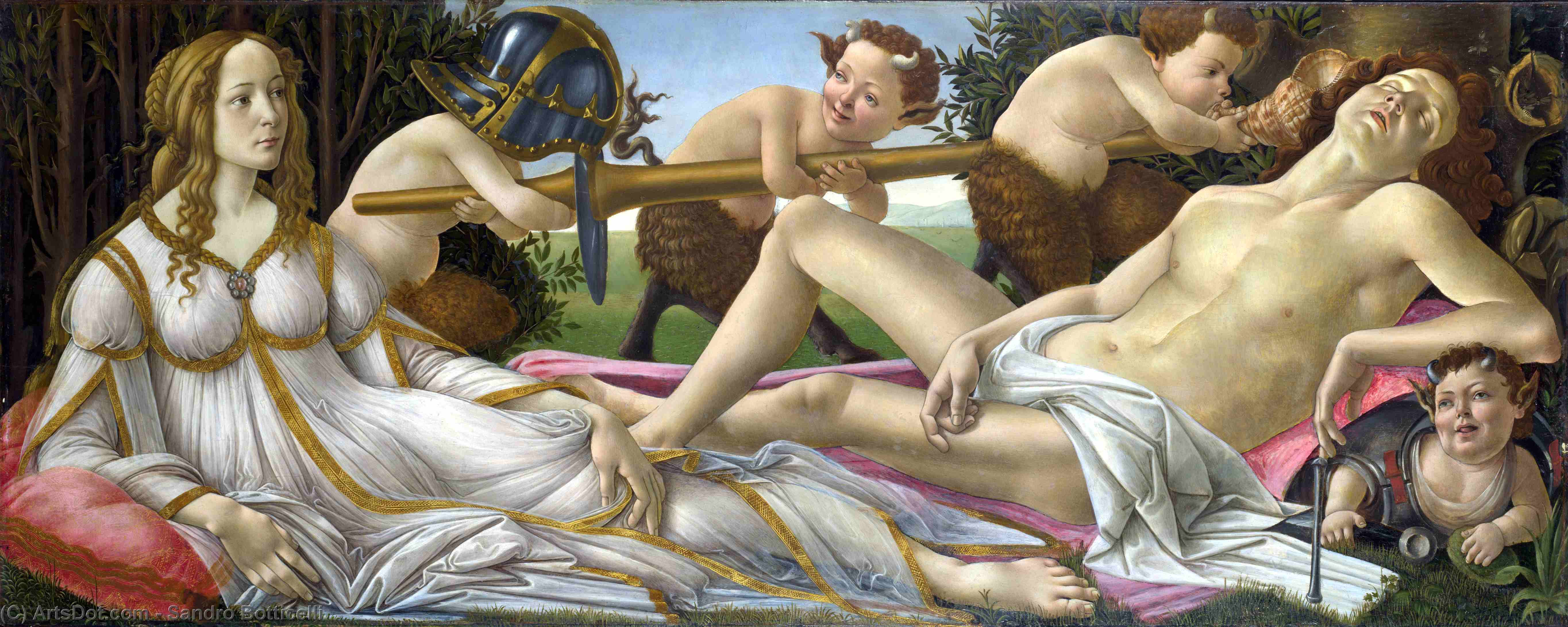 Wikioo.org - The Encyclopedia of Fine Arts - Painting, Artwork by Sandro Botticelli - Venus and Mars