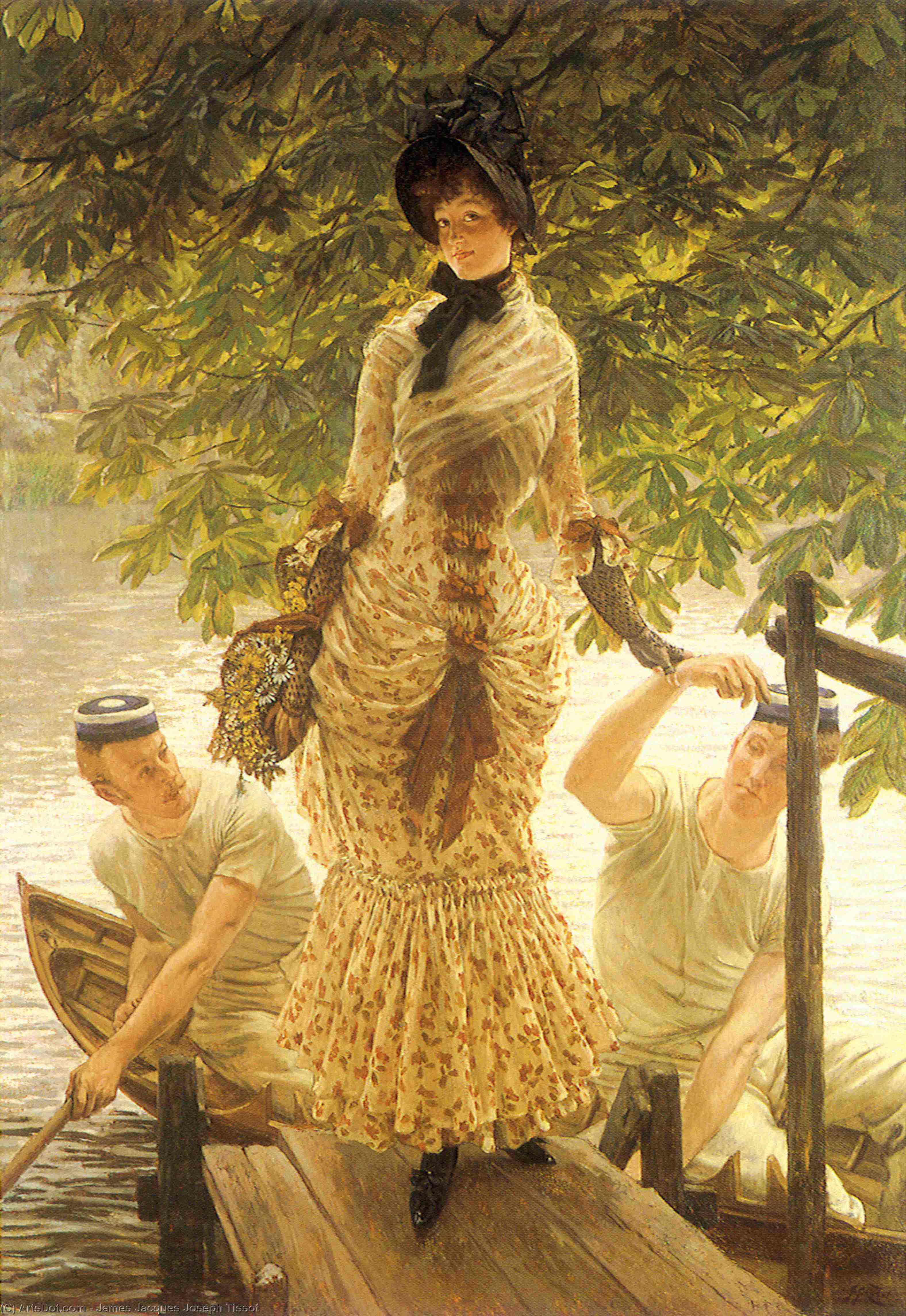 Wikioo.org - The Encyclopedia of Fine Arts - Painting, Artwork by James Jacques Joseph Tissot - On the Thames (also known as Return from Henley)