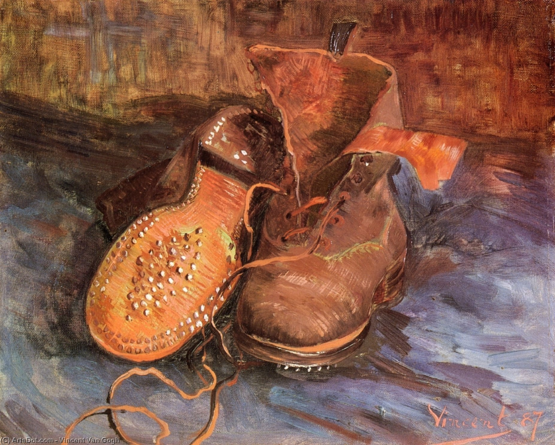 Wikioo.org - The Encyclopedia of Fine Arts - Painting, Artwork by Vincent Van Gogh - A Pair of Shoes