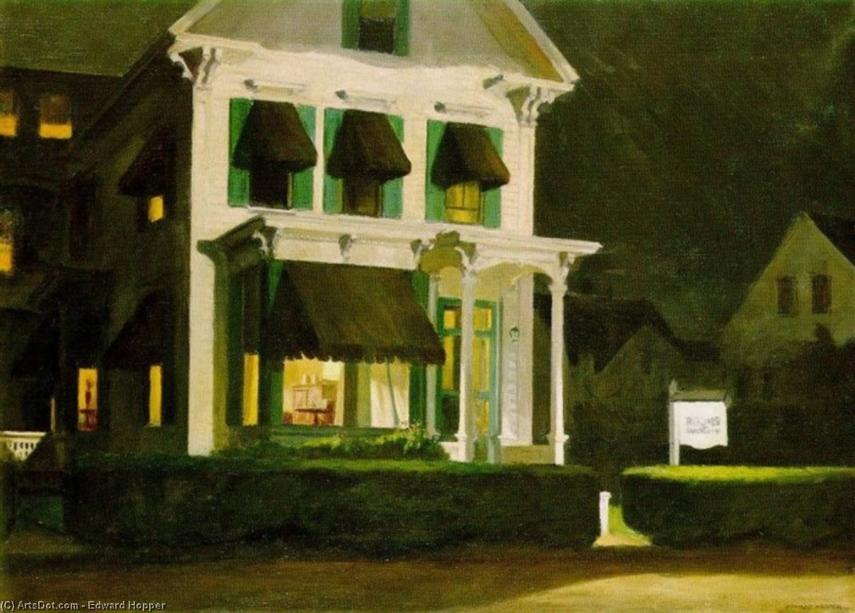 WikiOO.org - Enciclopédia das Belas Artes - Pintura, Arte por Edward Hopper - Rooms for Tourists