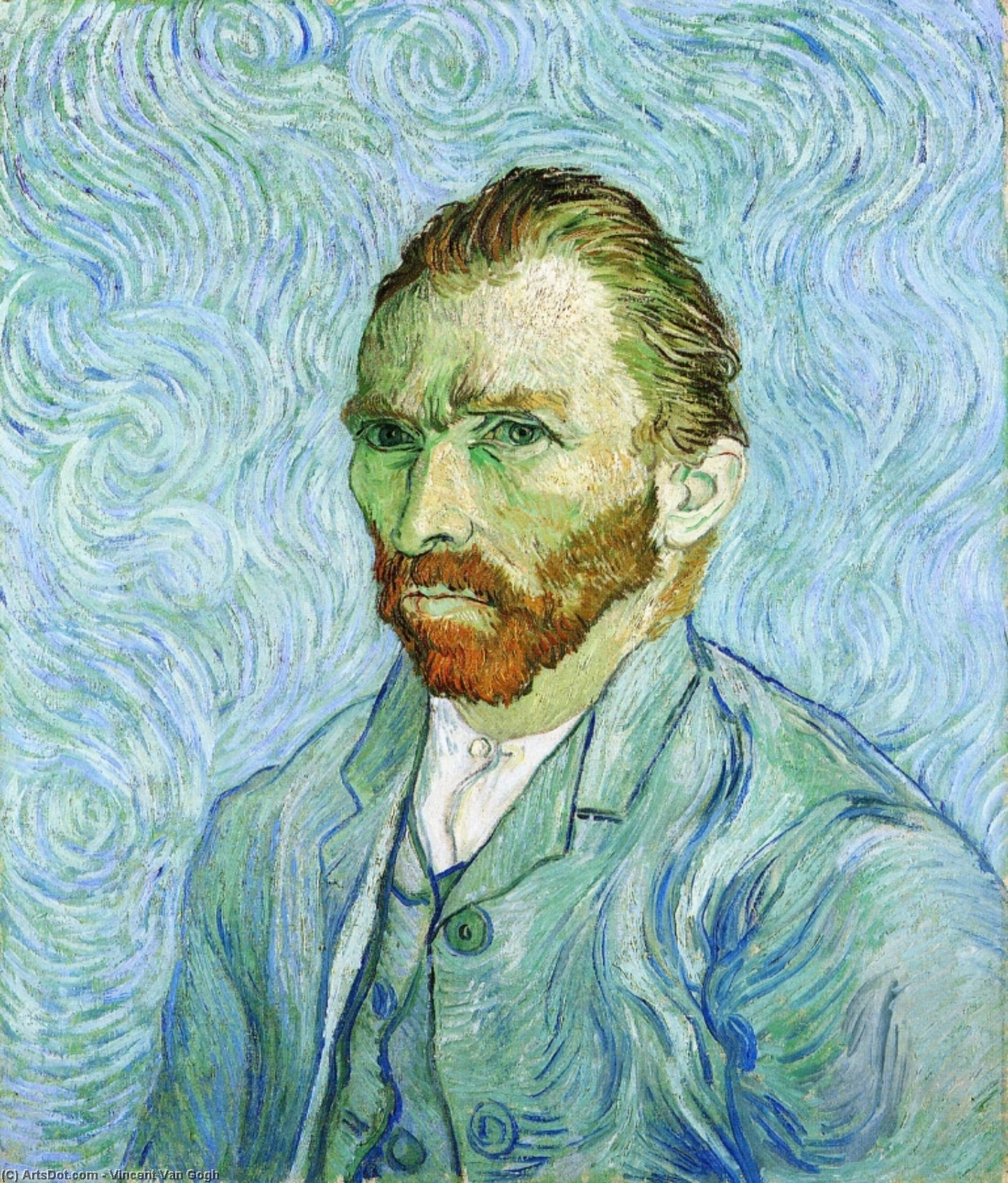 Wikioo.org - The Encyclopedia of Fine Arts - Painting, Artwork by Vincent Van Gogh - Self Portrait