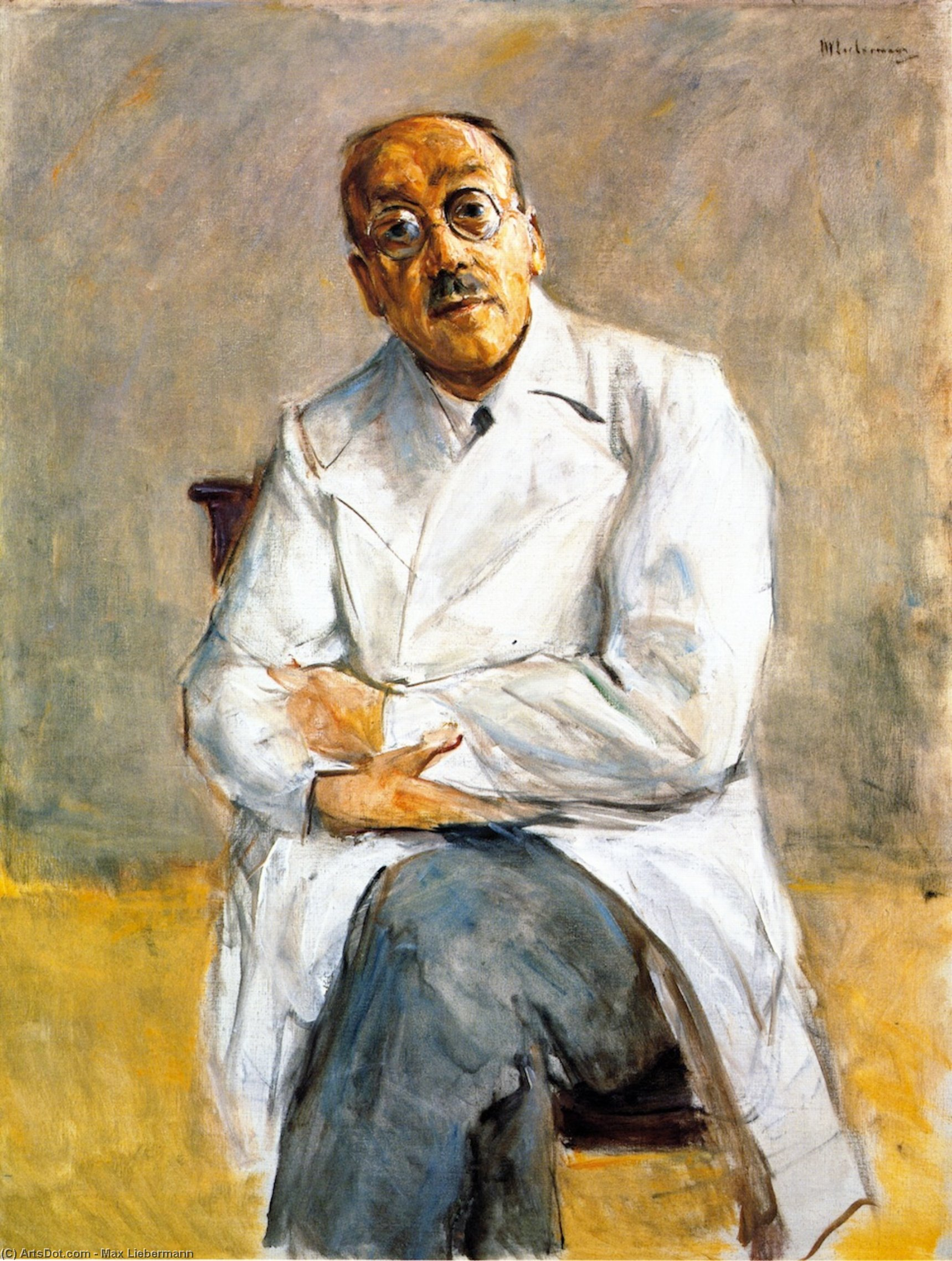Wikioo.org - The Encyclopedia of Fine Arts - Painting, Artwork by Max Liebermann - The Surgeon Dr. Ferdinand Sauerbruch